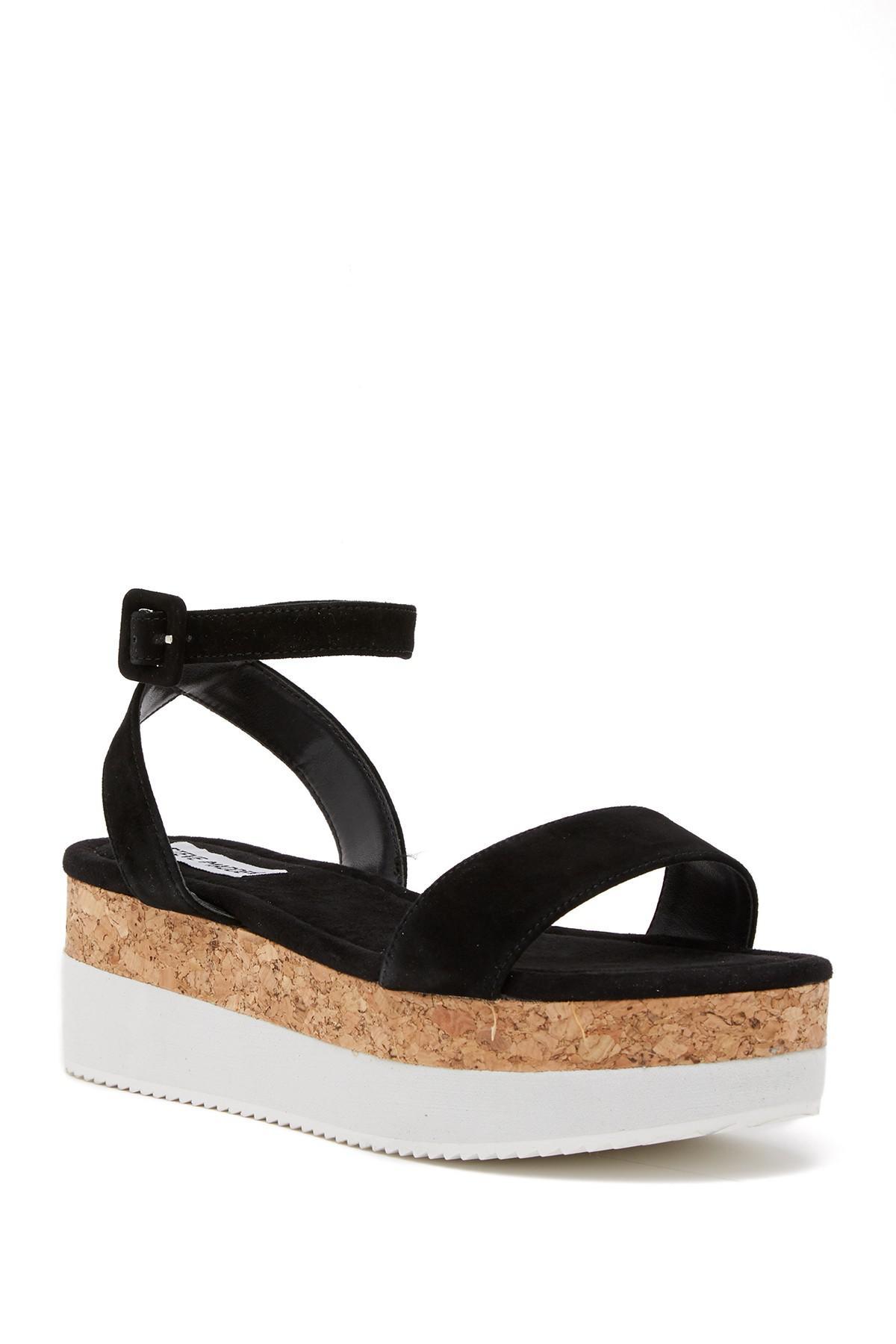 1133fcf65bf Lyst - Steve Madden Bodhi Platform Ankle Strap Sandal in Black