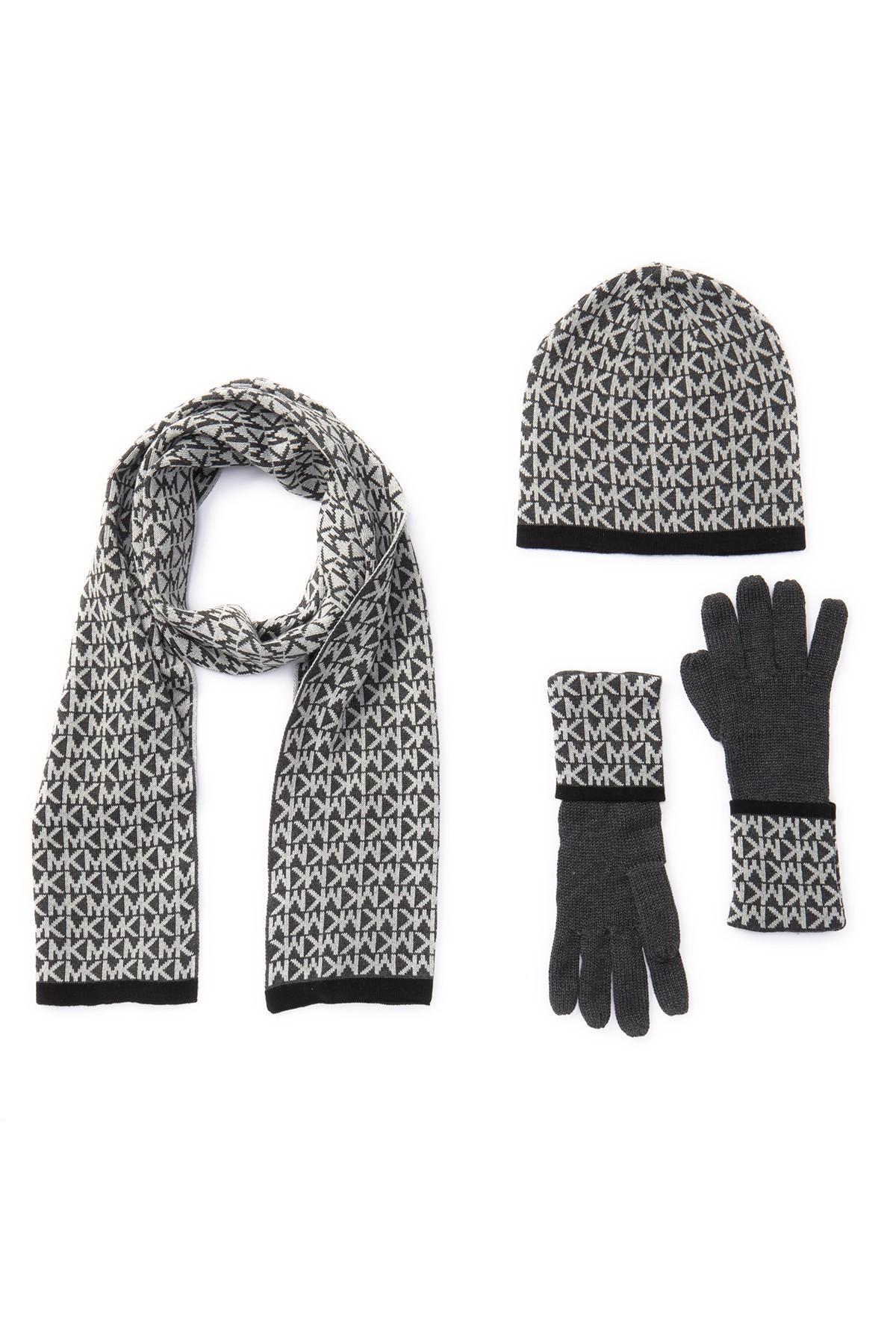 c93311d170a Lyst - Michael Kors Logo Muffler, Hat, & Gloves
