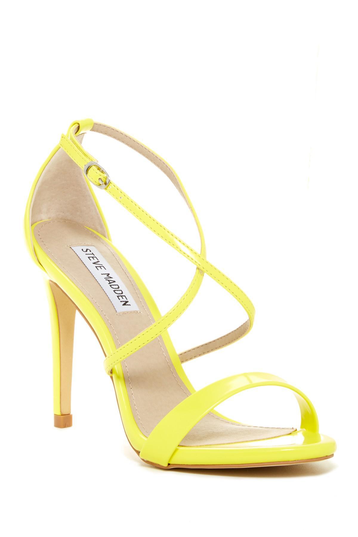 89fe2e588f2 Lyst - Steve Madden Floriaa Heel Sandal in Yellow