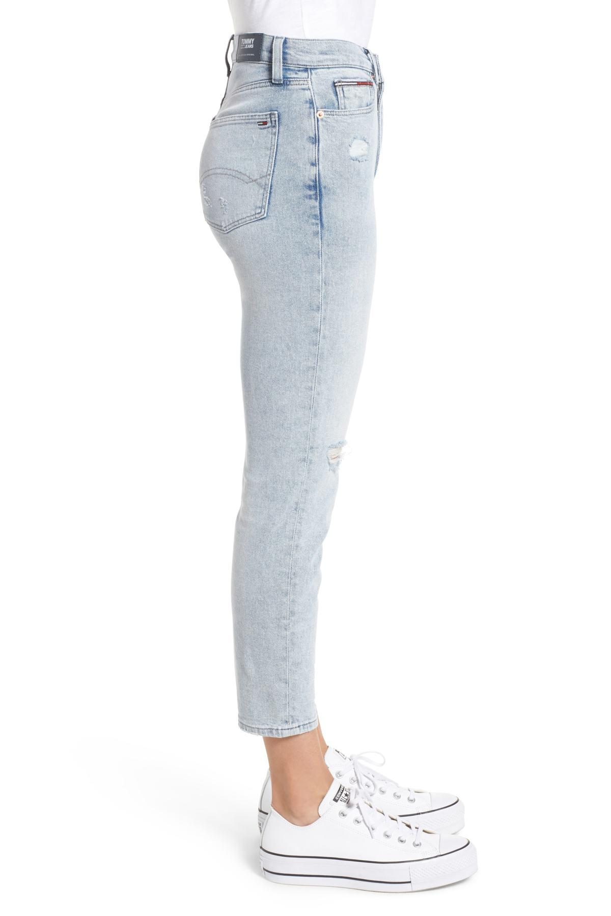 ef7c20ad Tommy Hilfiger Ripped Slim Izzy Jeans (flanders) in Blue - Lyst