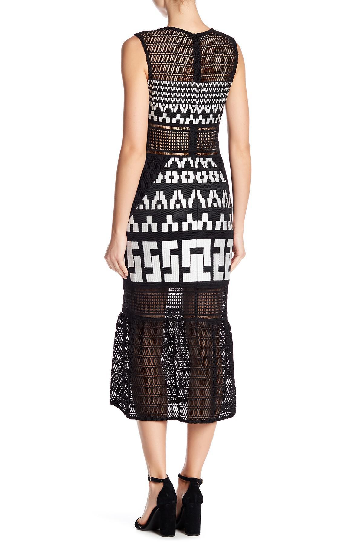 f03efa7b0c3b1 Elliatt Venture Lace Dress in Black - Lyst