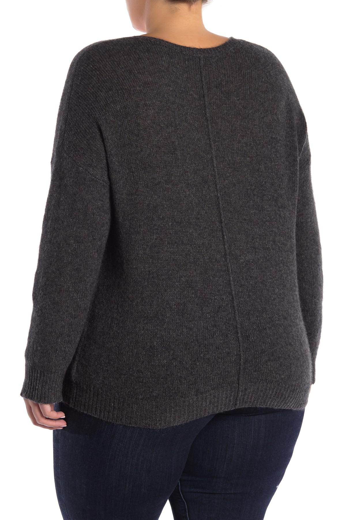 d0605afe041 Naked Cashmere - Gray Crystal Cashmere Sweater (plus Size) - Lyst. View  fullscreen