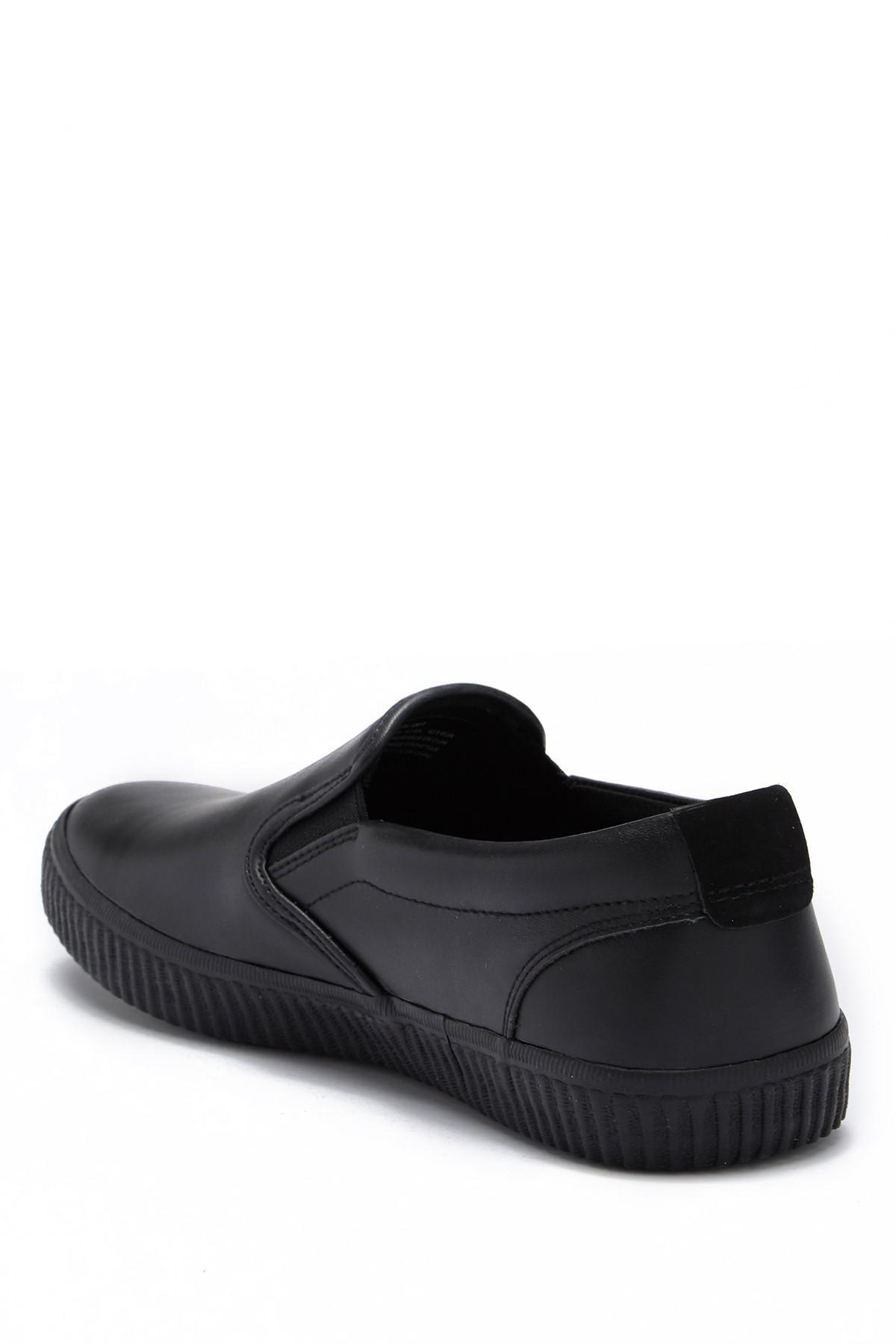 3b1359c77e70 Andrew Marc - Black Riverside Slip-on Sneaker for Men - Lyst. View  fullscreen