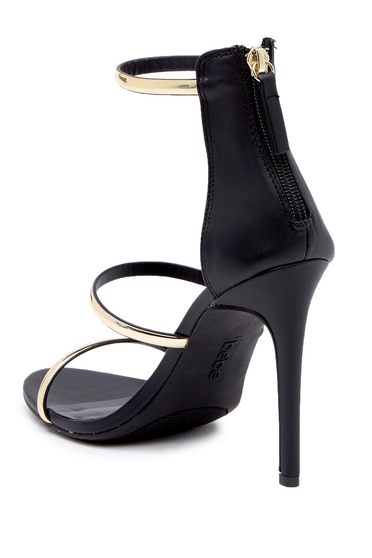 1b3b0e9ee81 Bebe - Black Berdine Strappy Stiletto Sandal - Lyst. View fullscreen