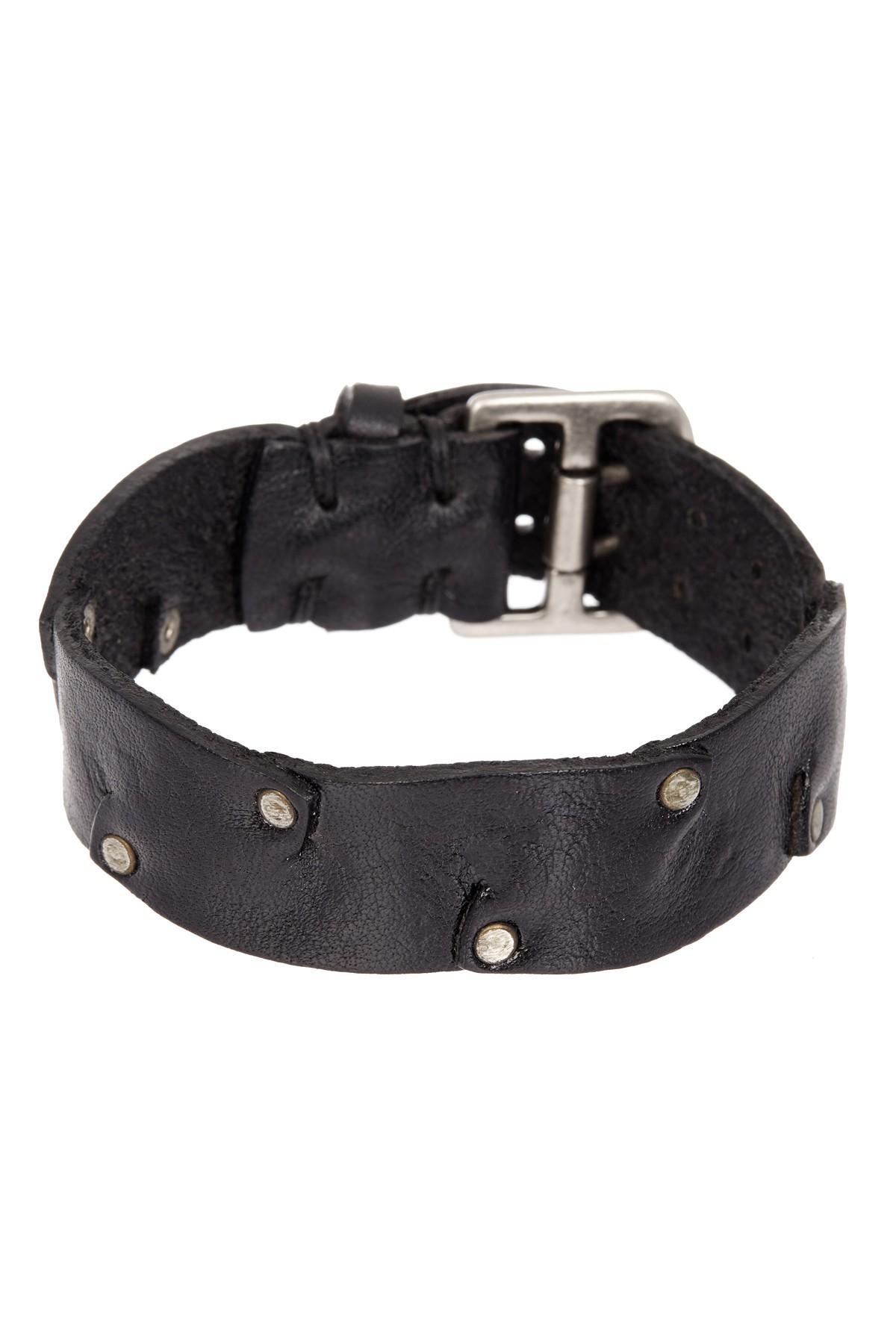 John Varvatos 20mm Riveted Strap Cuff Bracelet In Black