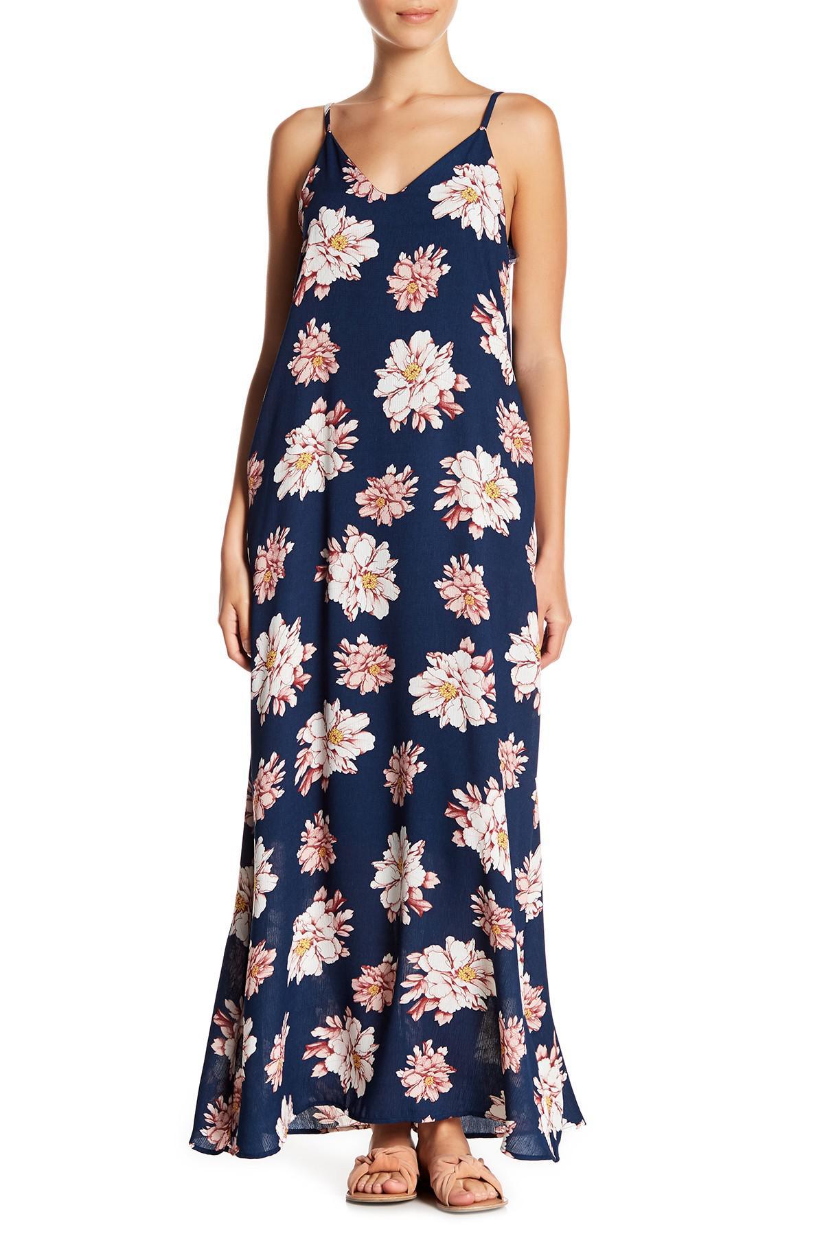 92a26ef333a Lyst - West Kei V-neck Gauze Maxi Dress (petite) in Blue