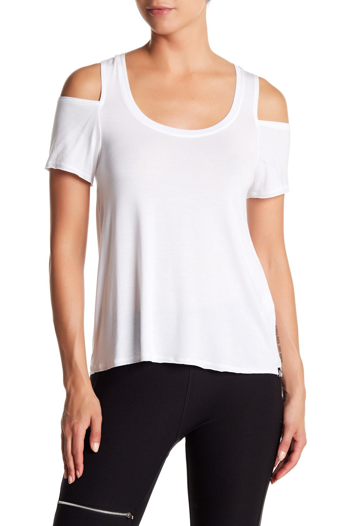 6c688b81a81760 Lyst - X By Gottex Cold Shoulder Shirt in White