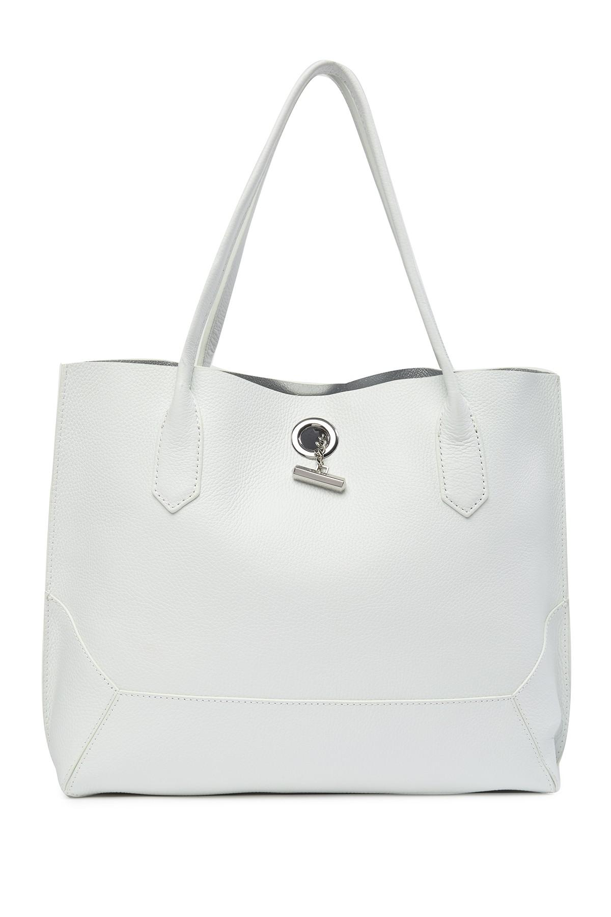 628b9a5f7 Lyst - Botkier Waverly Leather Tote in White
