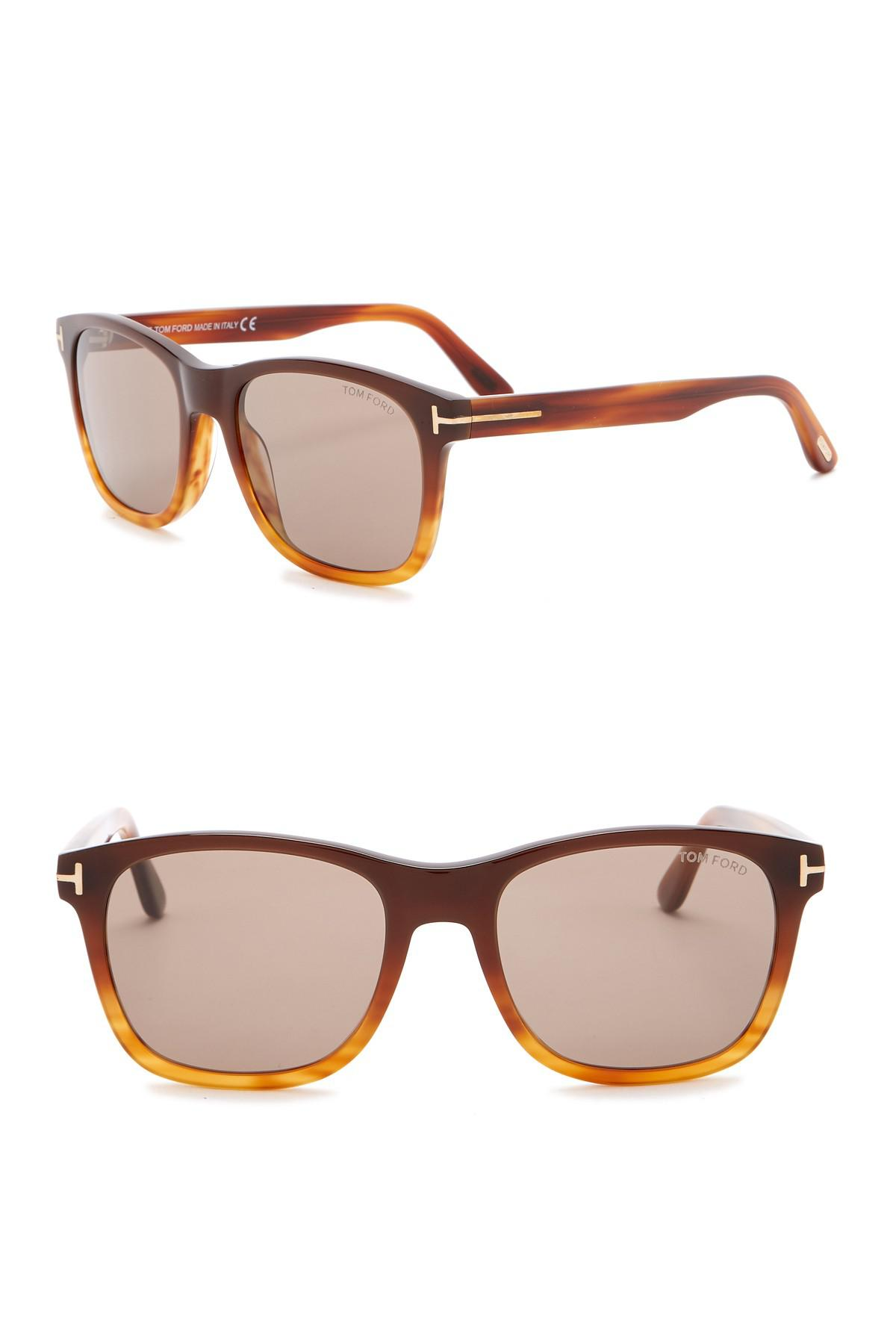 fc6c322a7e6 Lyst - Tom Ford Eric 55mm Square Sunglasses in Brown for Men