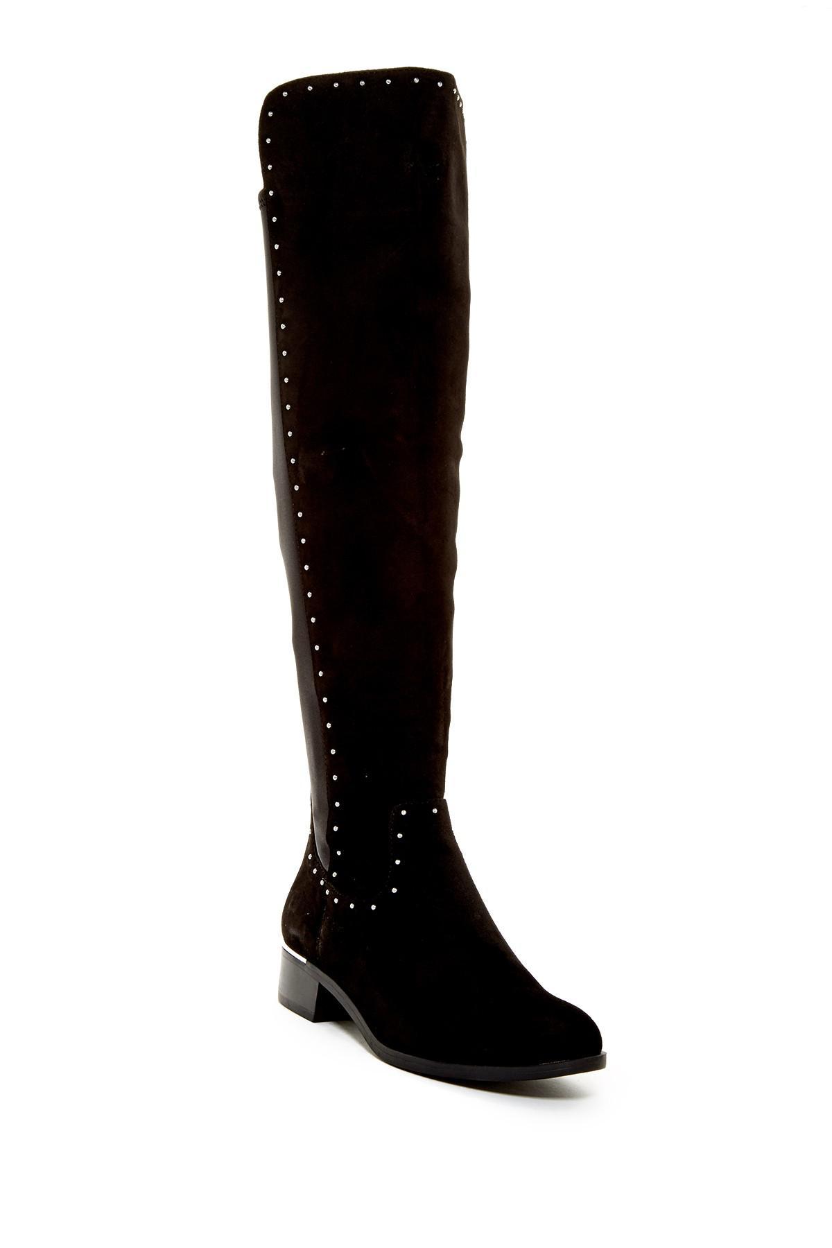 Calvin Klein Women's Cynthia Studded Riding Boot Kw7L1an