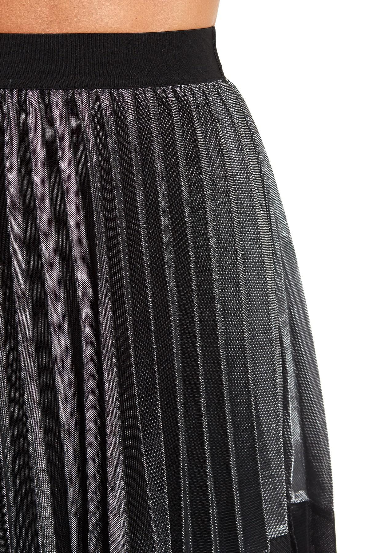 e9c9be4d08 Angie Two-tone Metallic Pleated Midi Skirt - Lyst
