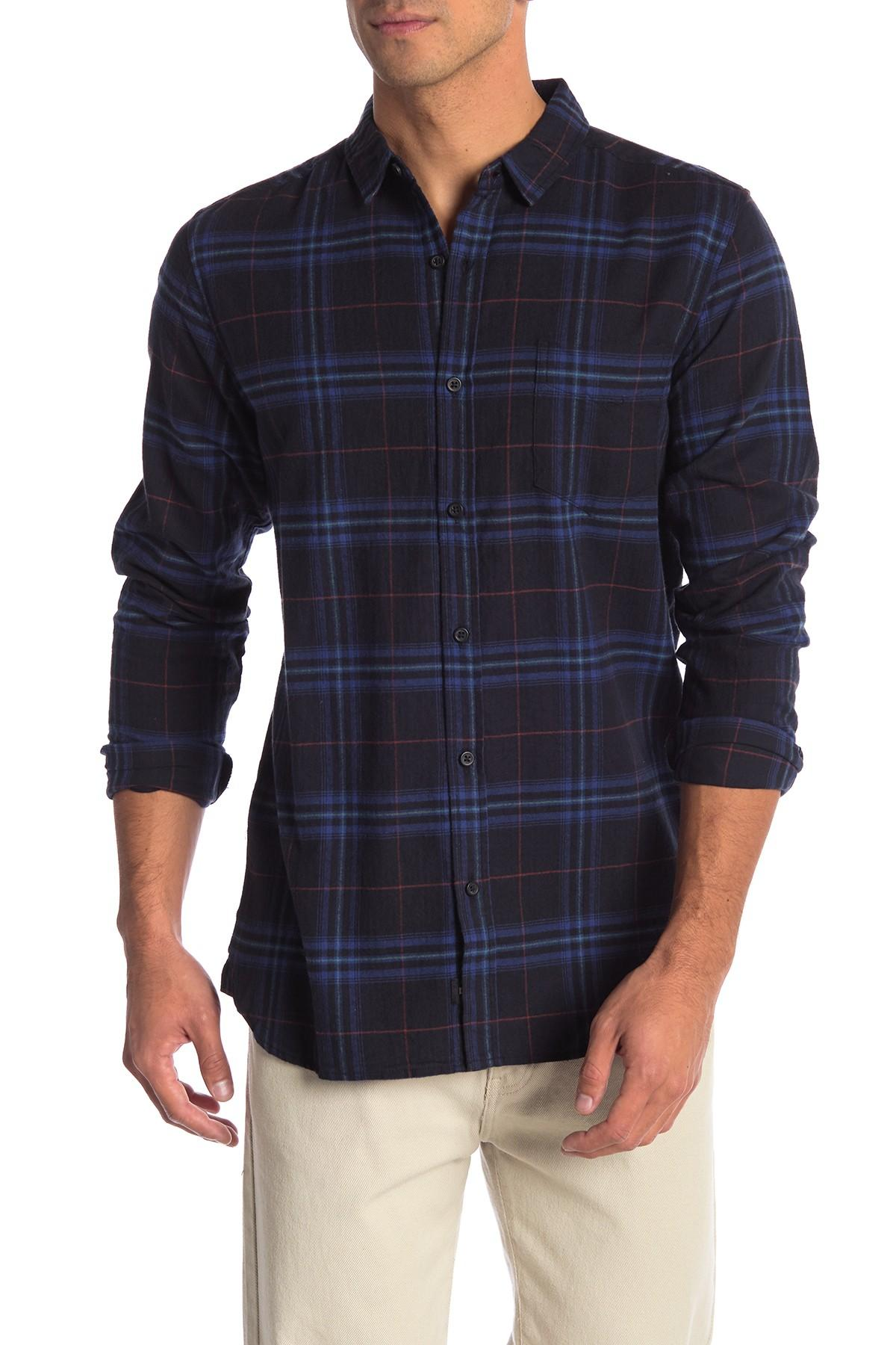 f82376b4bc5b Lyst - Globe Dock Plaid Shirt in Blue for Men - Save 37.77777777777778%