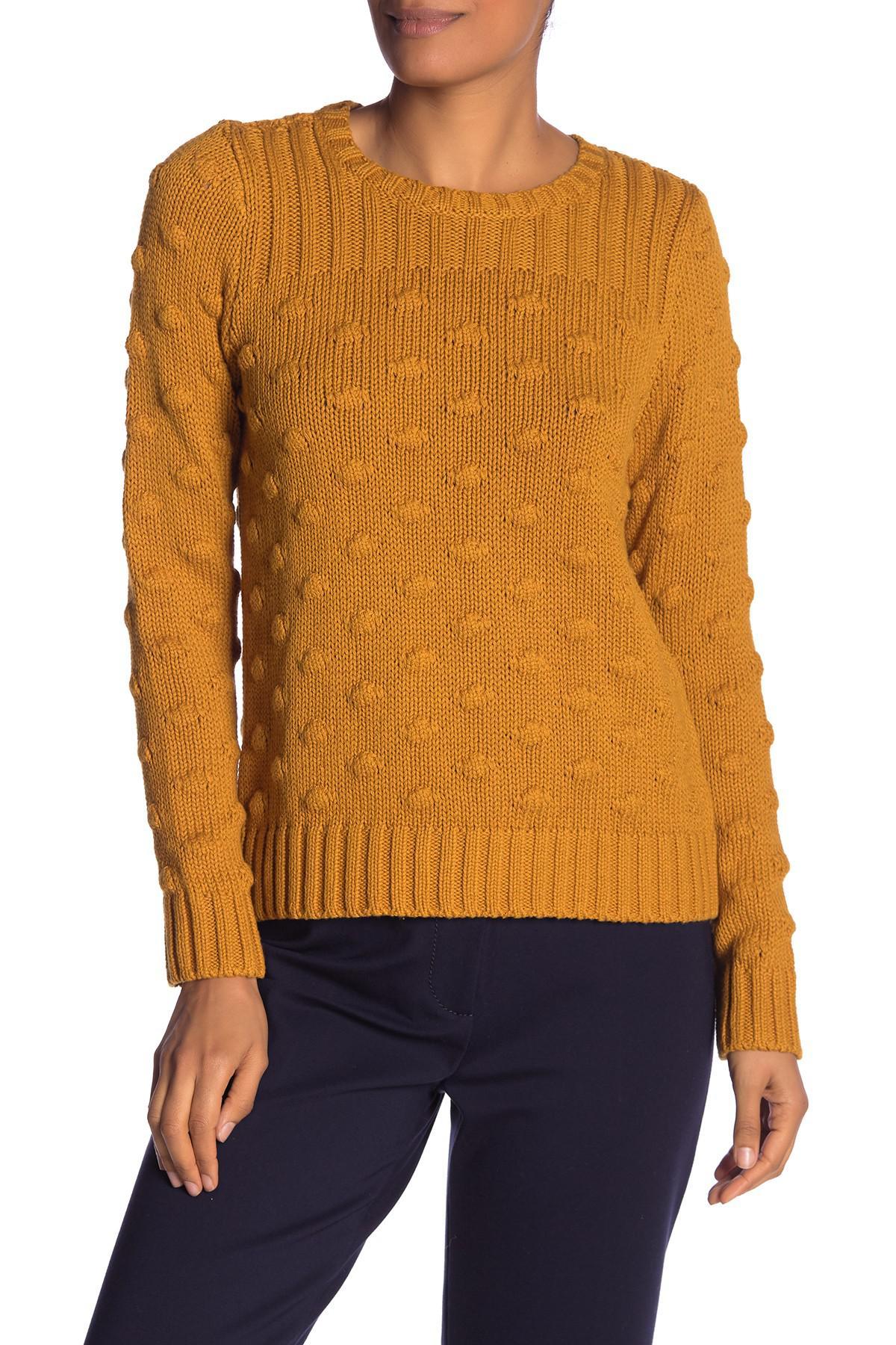 a8610955c3ee Lyst - Vince Camuto Vince Camto Popcorn Stitch Cotton Sweater in Orange