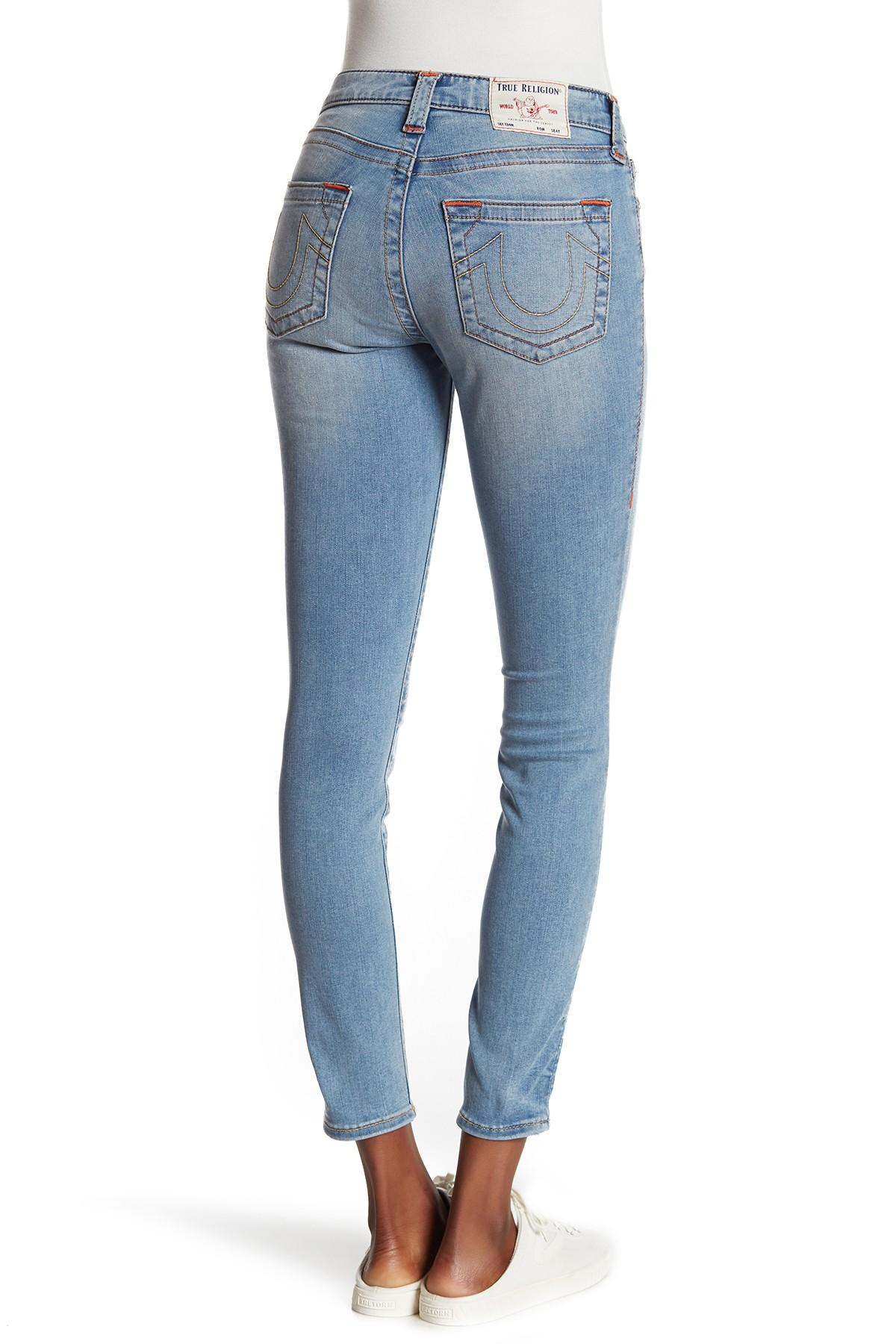 4677fb96c9d True Religion - Blue Jennie Mid Rise Curvy Skinny Jeans - Lyst. View  fullscreen