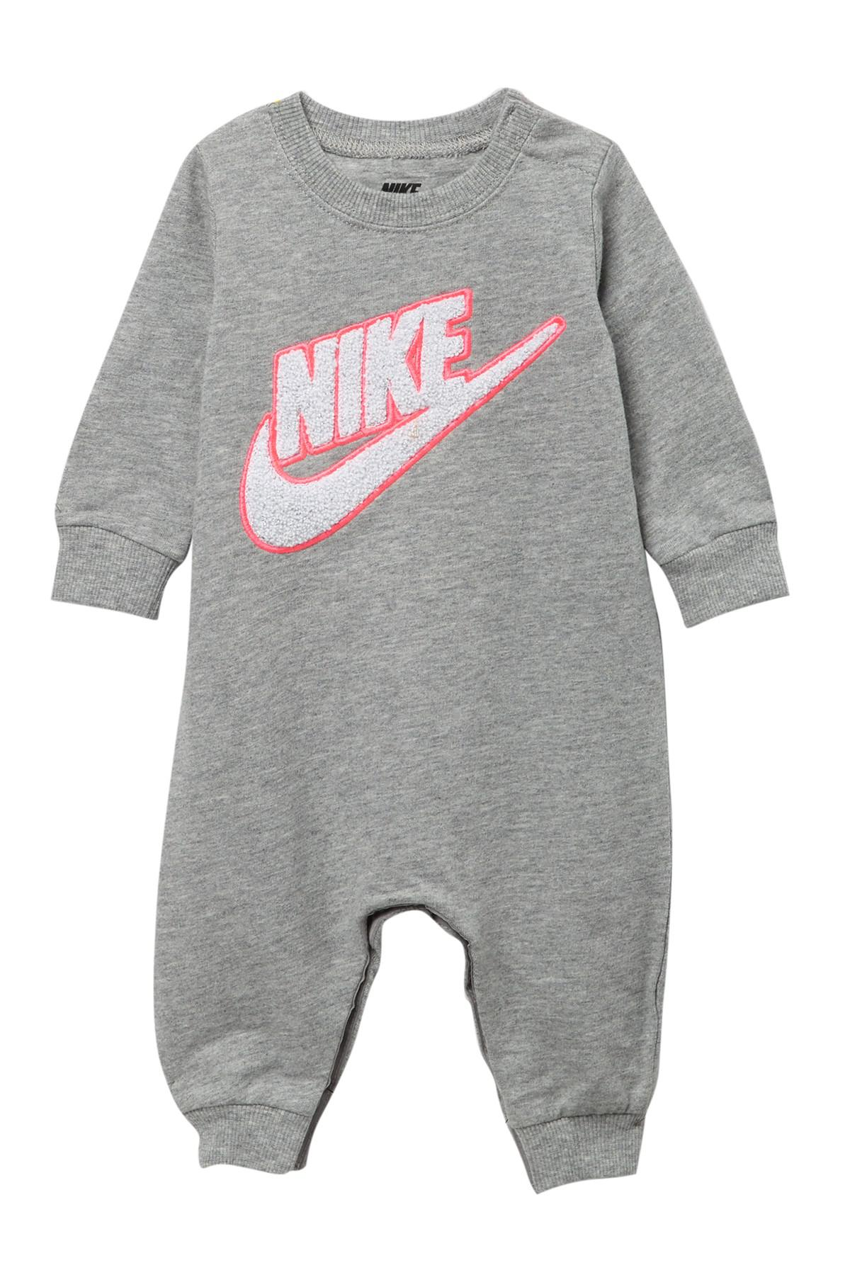 ba9853e1ede4 Lyst - Nike Swoosh Chenille Coverall (baby Girls) in Gray