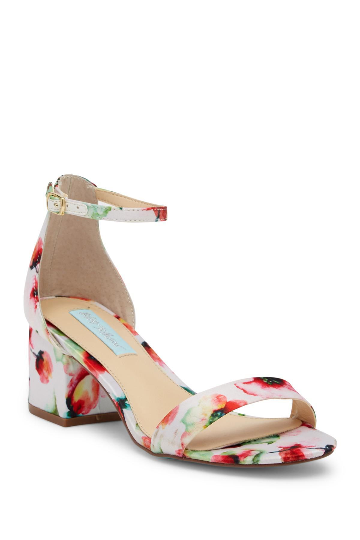 e8a2a74b149 Lyst - Betsey Johnson Jayce Glitter Block Heel Sandal