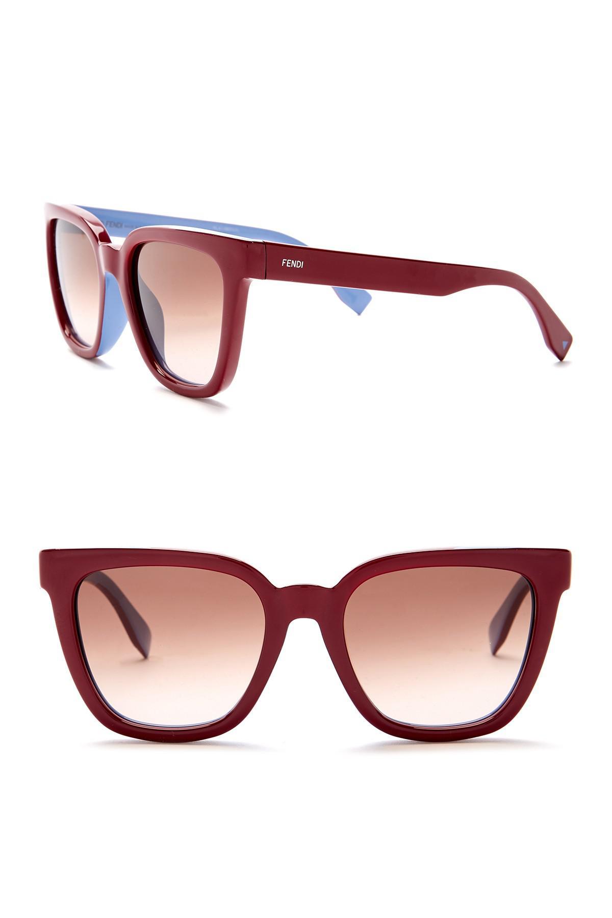56e7270bce39 Lyst - Fendi 53mm Oversized Sunglasses