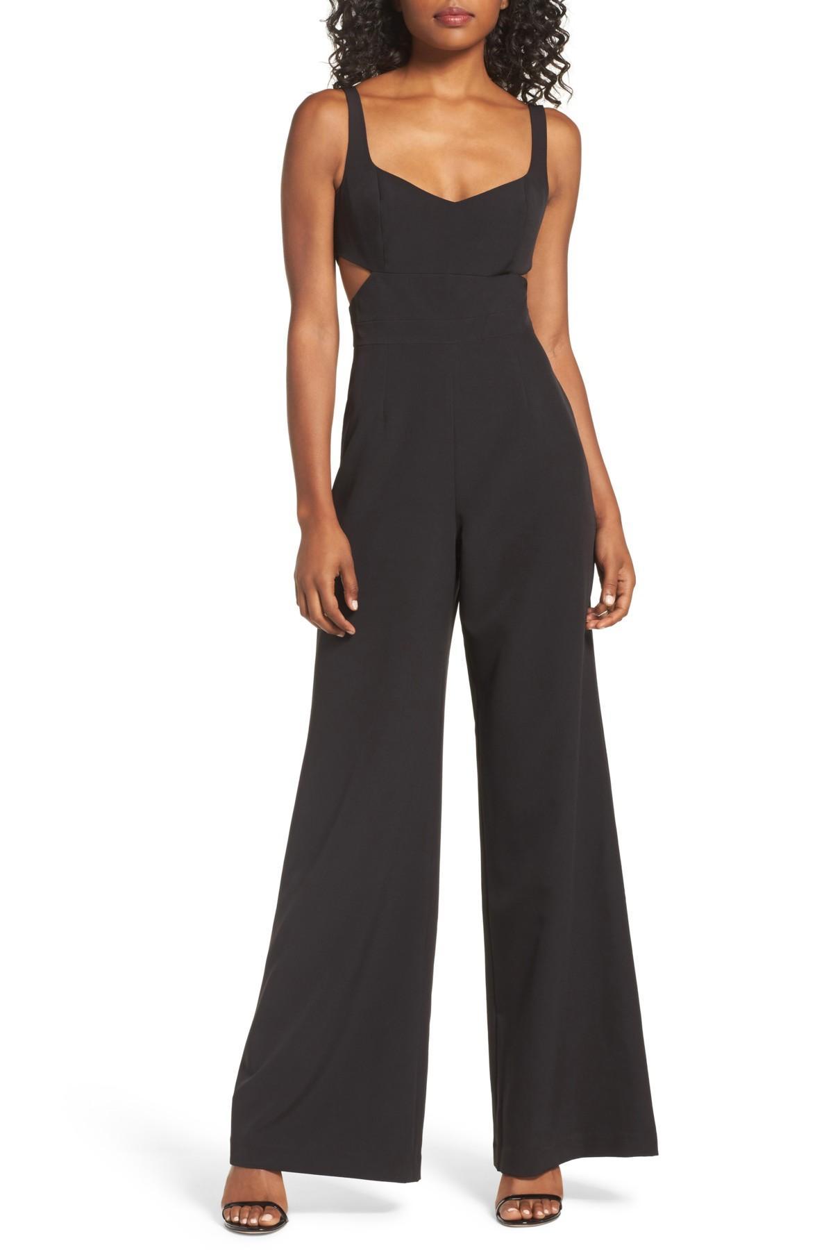 04a916fd3c55 Lyst - Jay Godfrey Daisy Side Cutout Jumpsuit in Black
