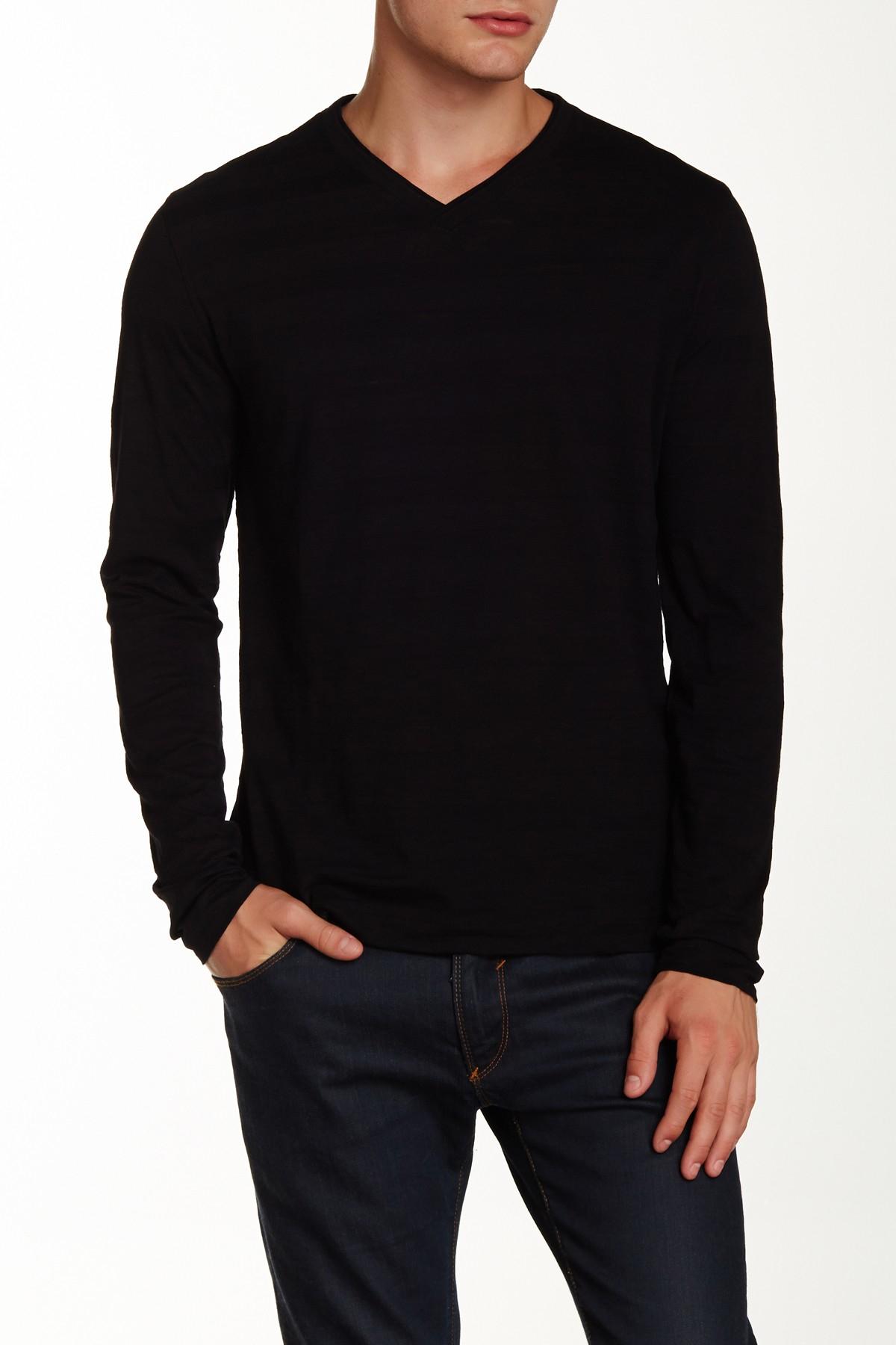 f9afbc76 Lyst - Boss Molino Long Sleeve Tee in Black for Men