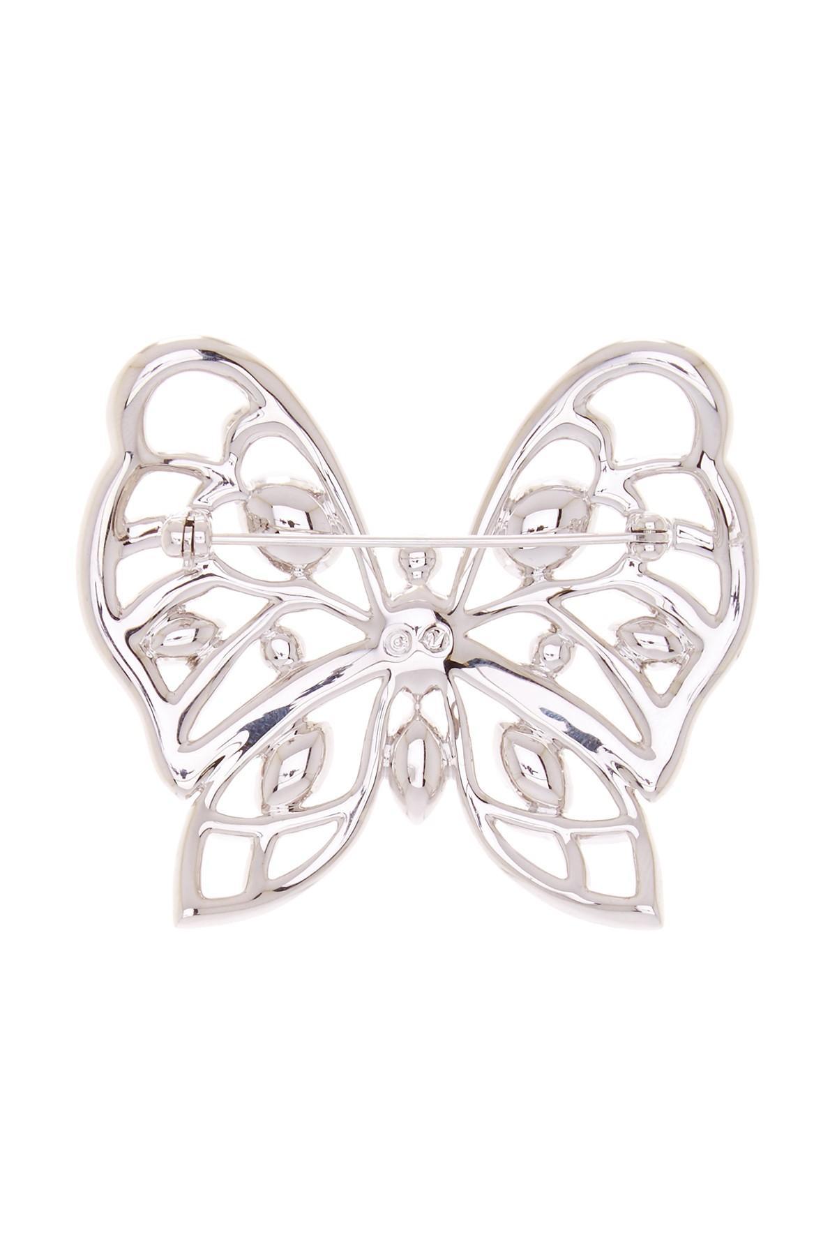 Lyst Swarovski Butterfly Crystal Brooch