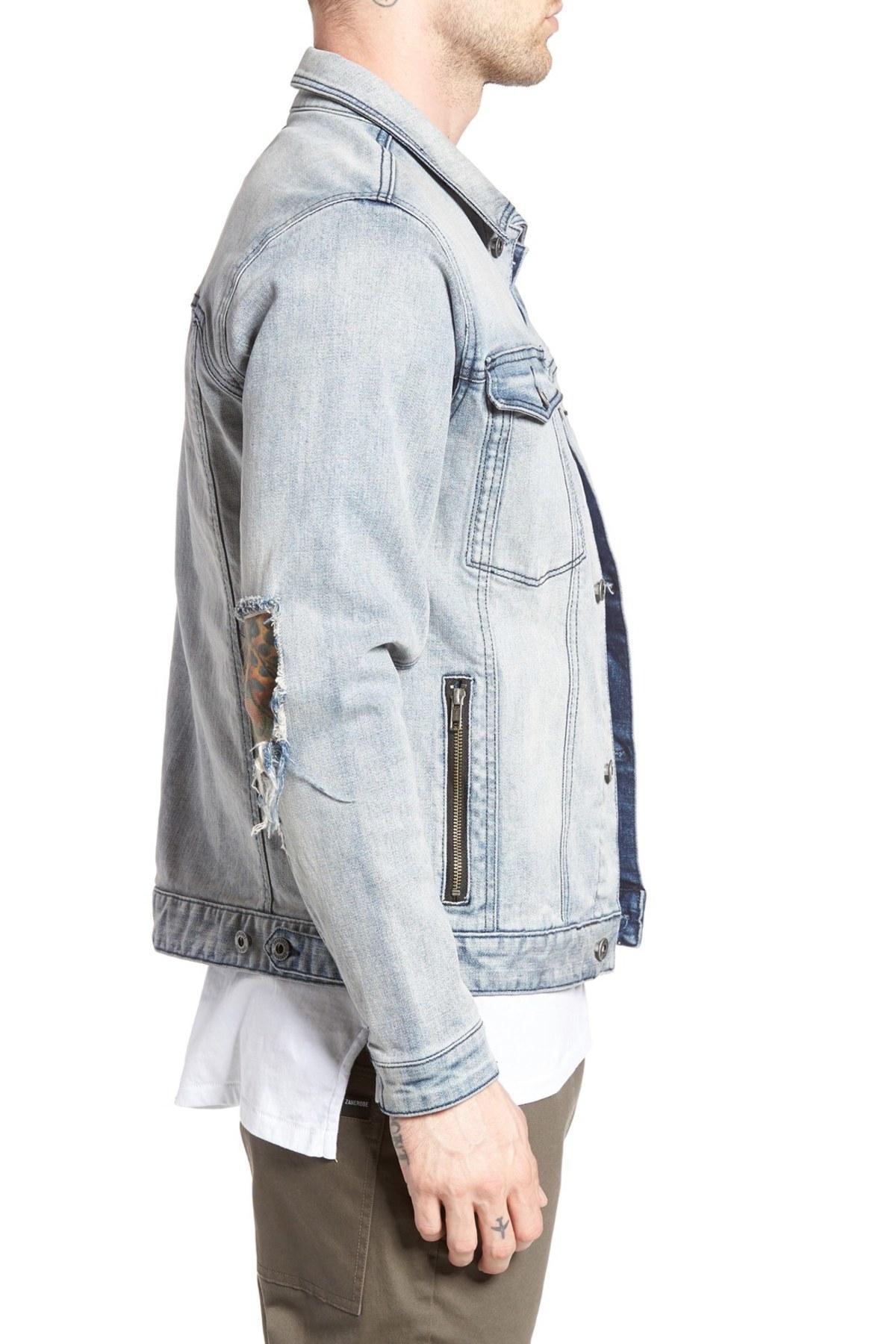 Lyst Zanerobe Greaser Denim Jacket In Blue For Men