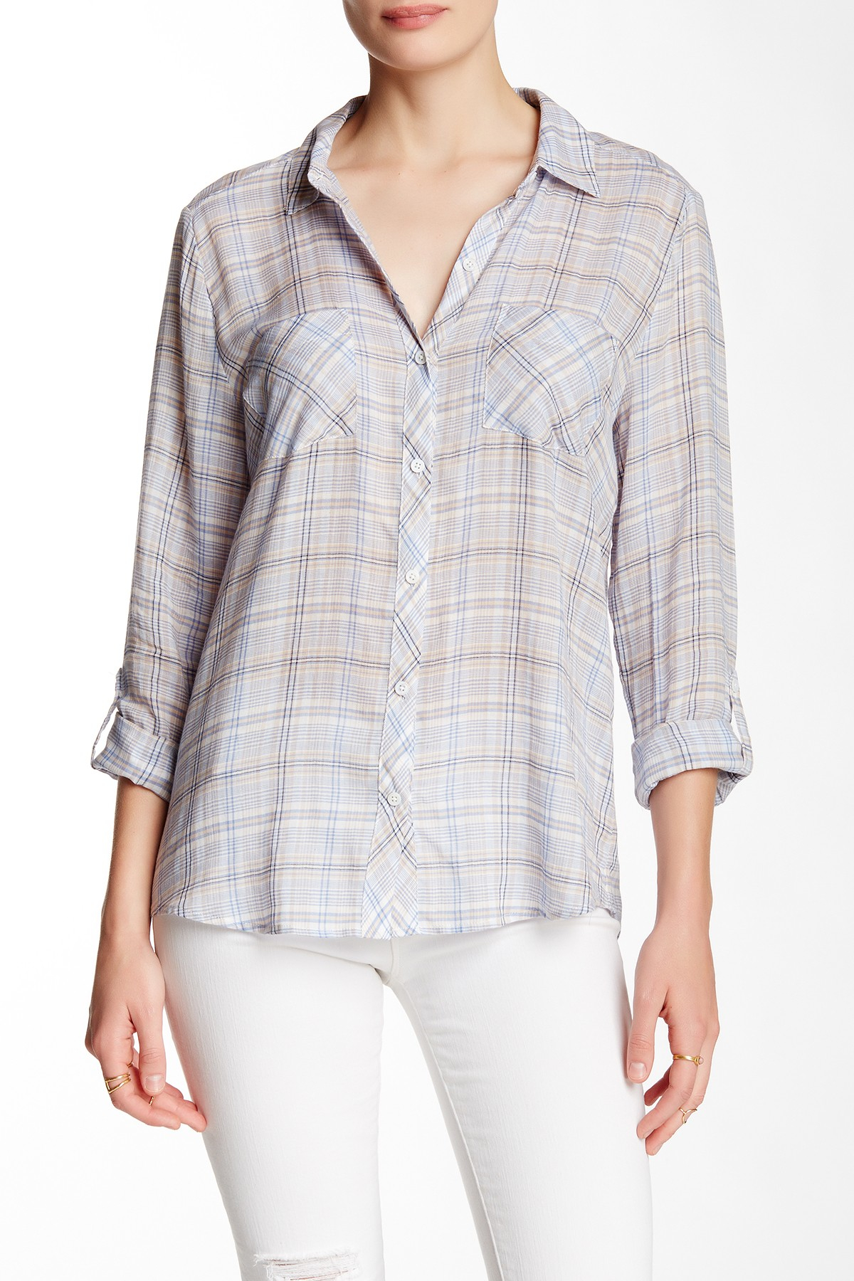 Lyst soft joie sequoia plaid shirt for Soft joie plaid shirt