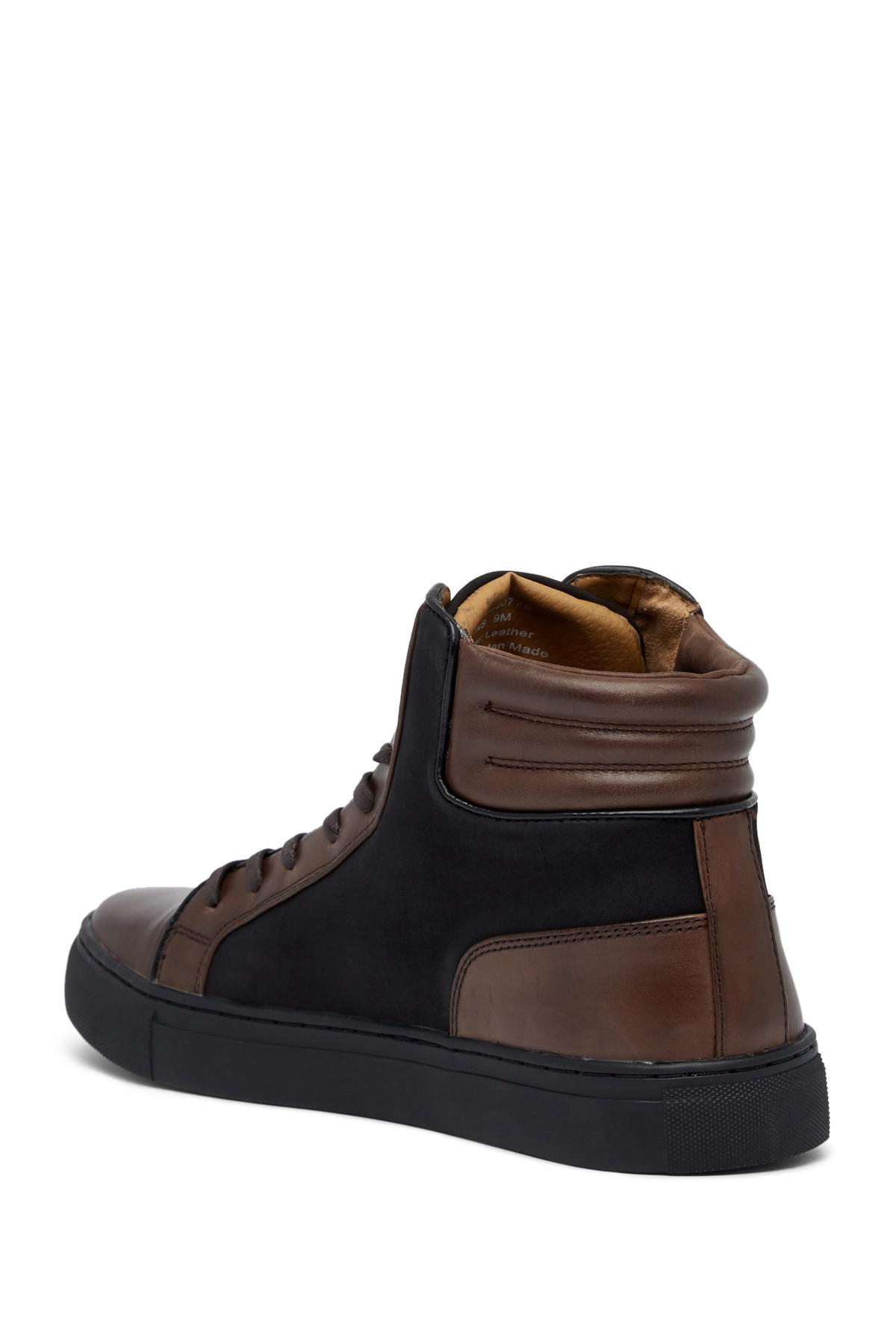 Kenneth Cole Reaction Contrast Leather Hi-Top Sneaker fuDtisfzf