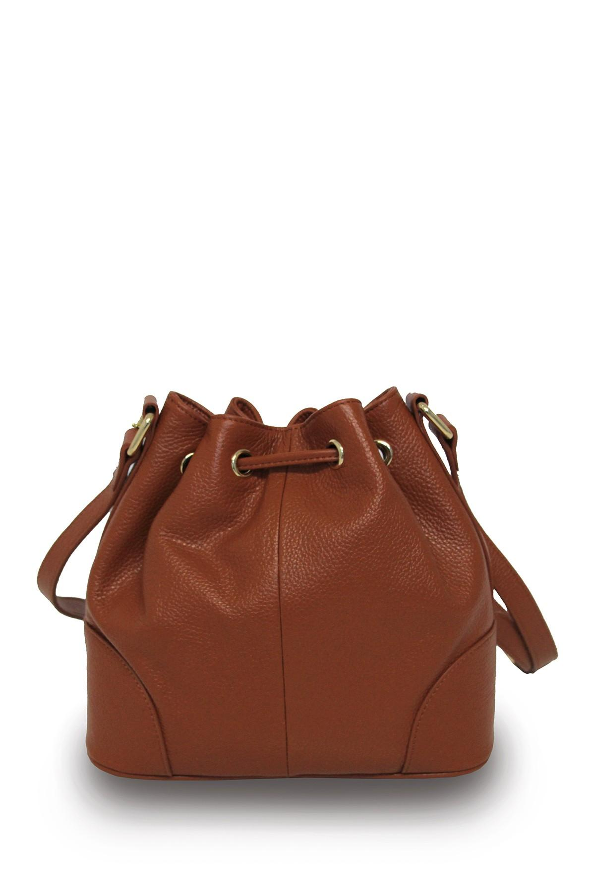 Lyst Zenith Drawstring Leather Hobo In Brown