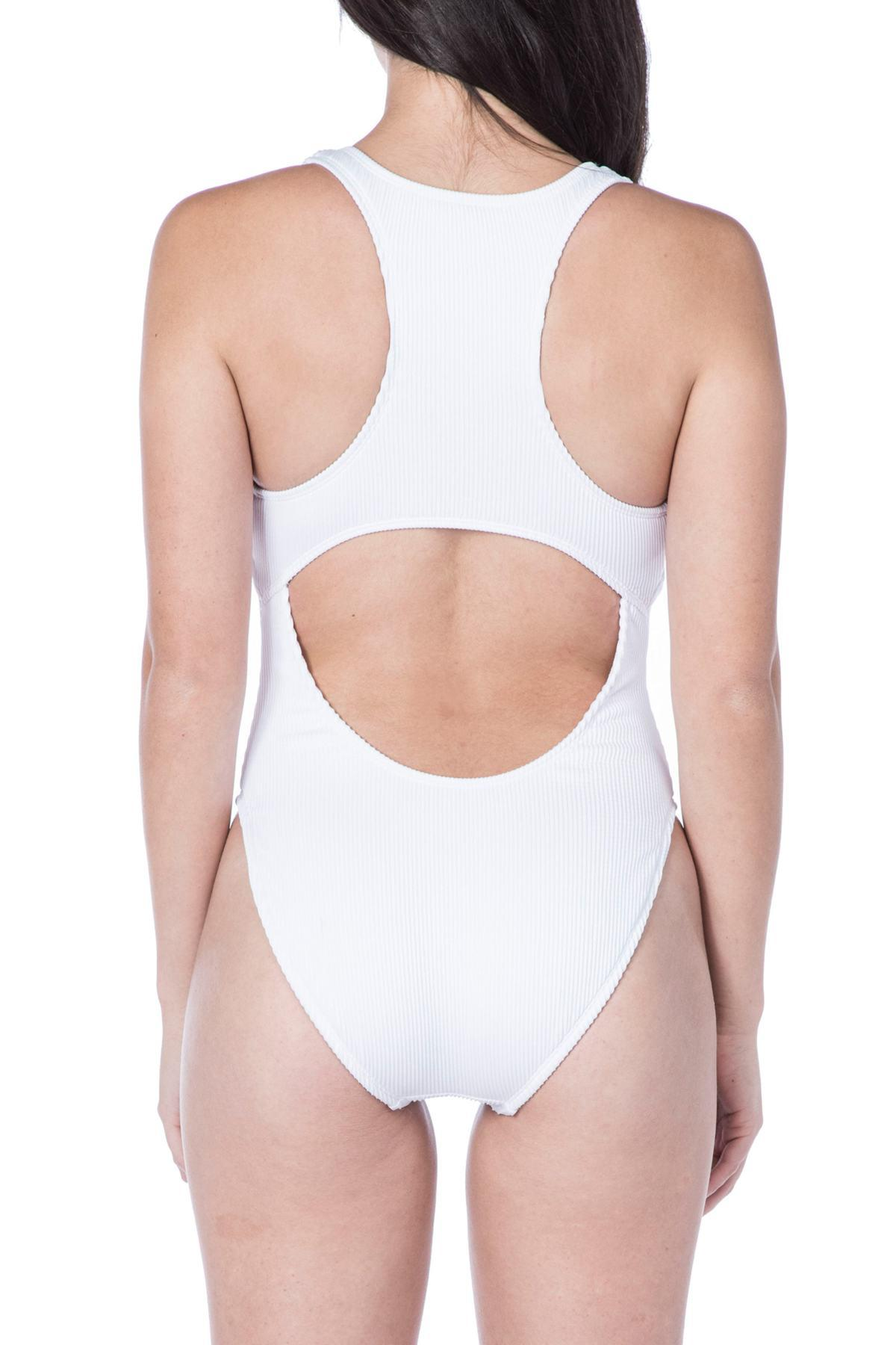 14b36eb95f6 The Bikini Lab - White Rib-thym One-piece Swimsuit - Lyst. View fullscreen