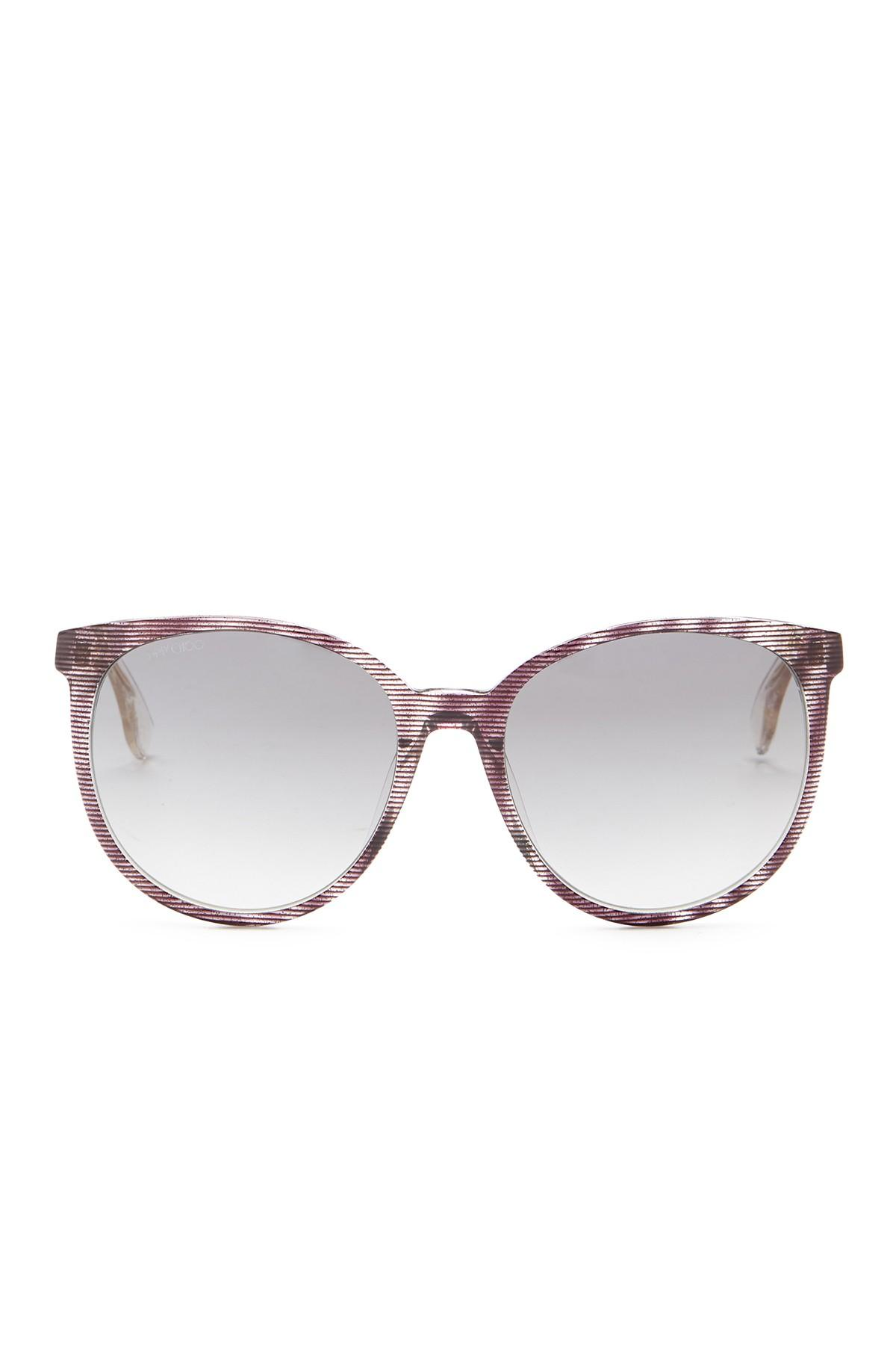 cfec81a87cb Lyst - Jimmy Choo Unisex Reece Rounded Sunglasses