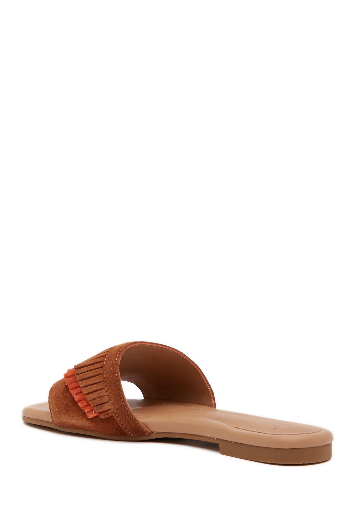 ec0c93442732 Lyst - UGG Binx Fringe Thong Sandal in Brown