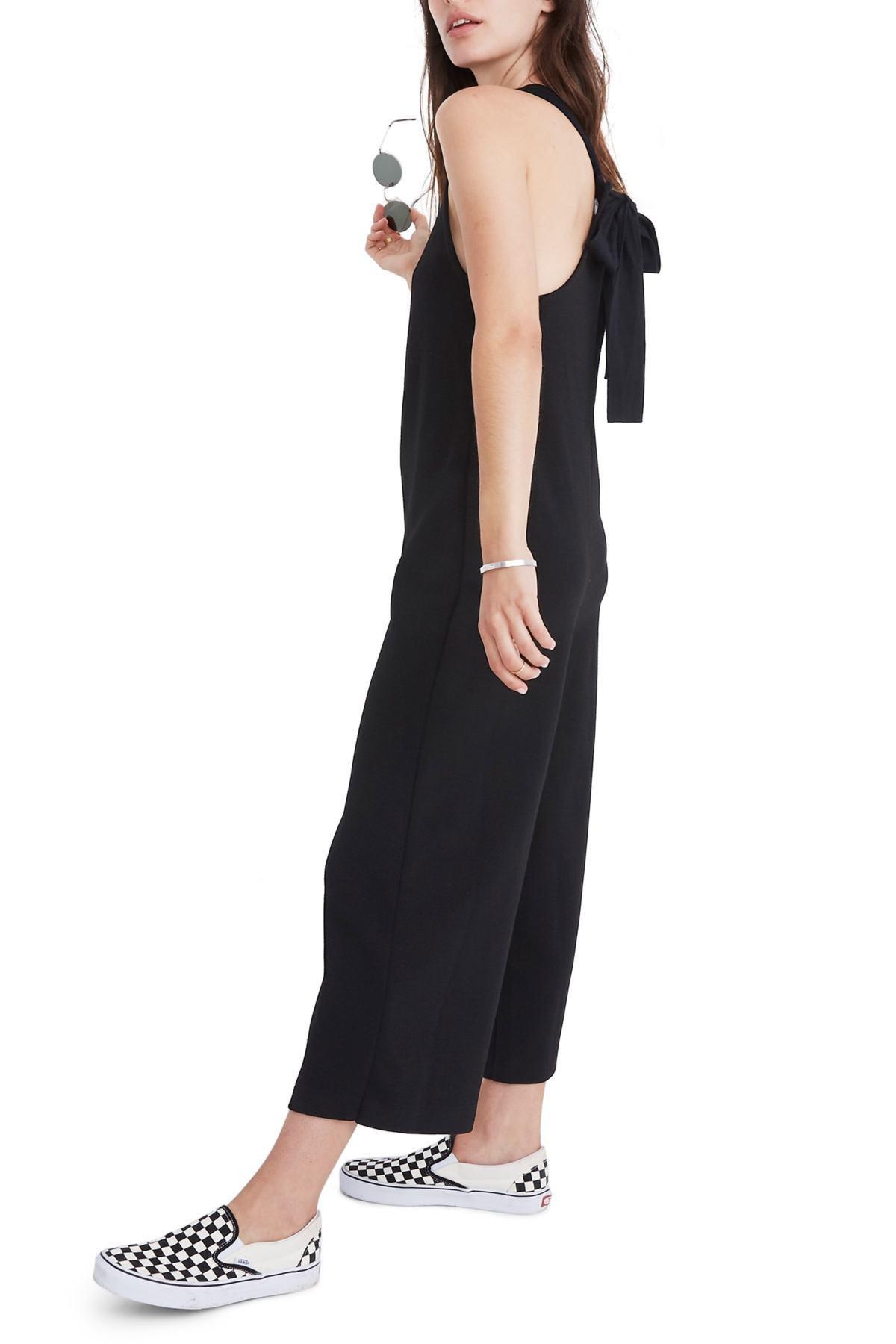 c8005593025a Lyst - Madewell Texture   Thread Tie Back Jumpsuit (regular   Plus ...