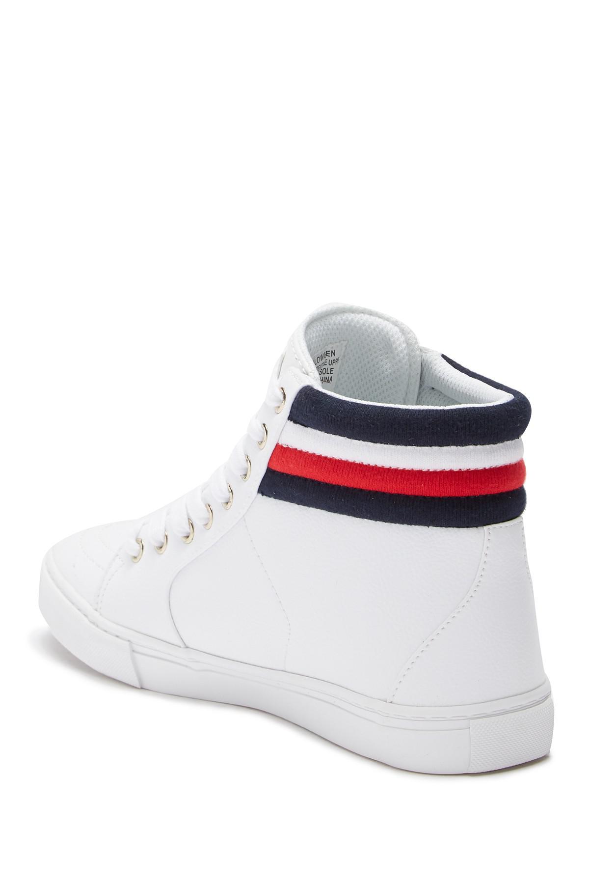 b0703d5a46fb5 Tommy Hilfiger - White Lowgen High Top Sneaker - Lyst. View fullscreen