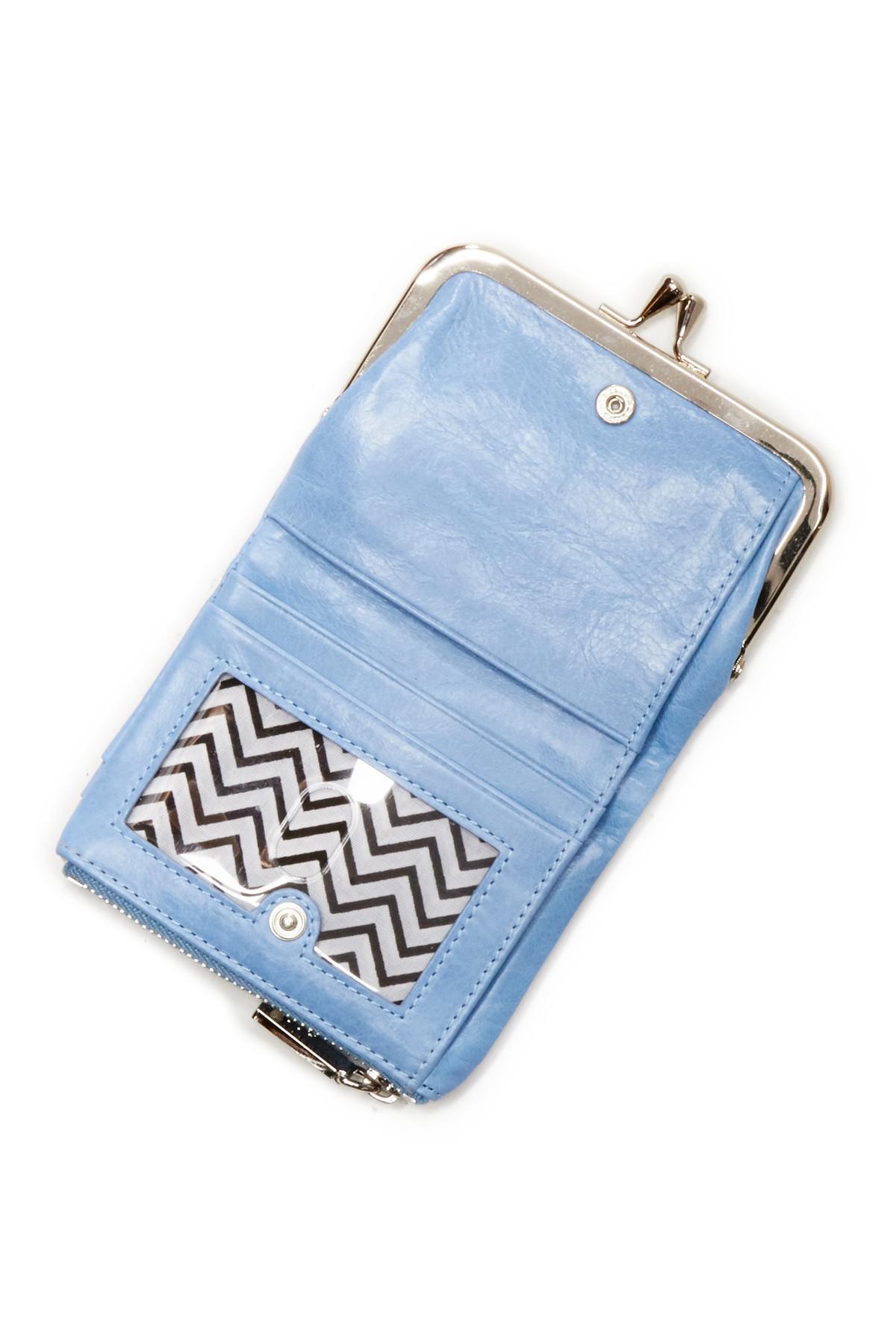 4049b021ee0b Lyst - Hobo Peg Leather Wallet in Green