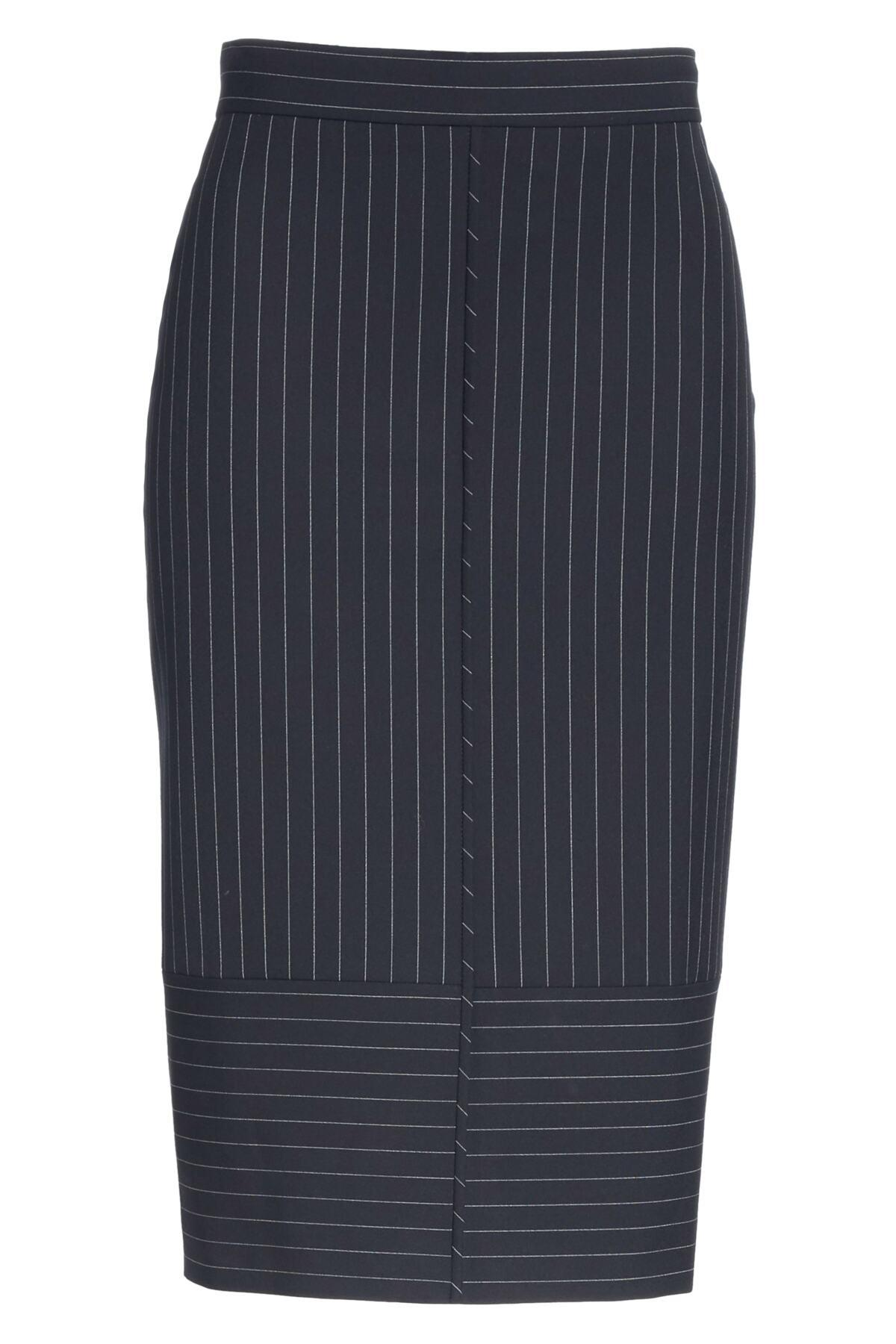 600d0eb9 BOSS - Multicolor Vunka Mix Pinstripe Suit Skirt - Lyst. View fullscreen