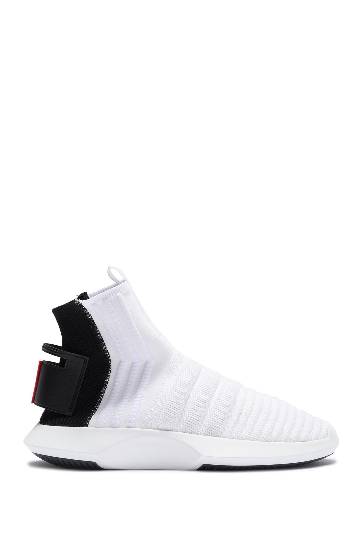 brand new ab556 abcde Adidas - White Crazy 1 Adv Sock Pk Sneaker for Men - Lyst. View fullscreen
