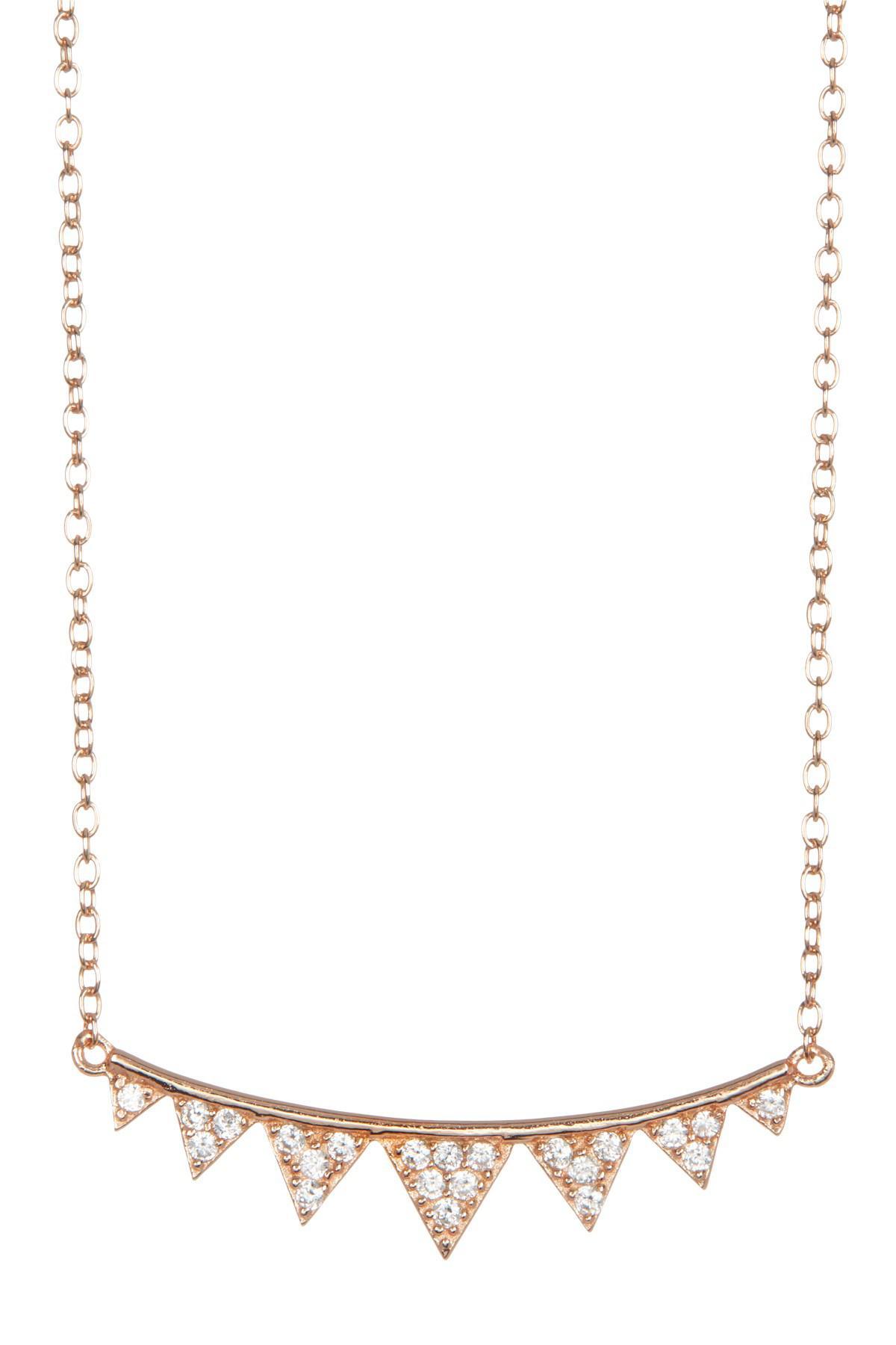 Rose Necklace in Metallic Gold Shashi xffpElSs
