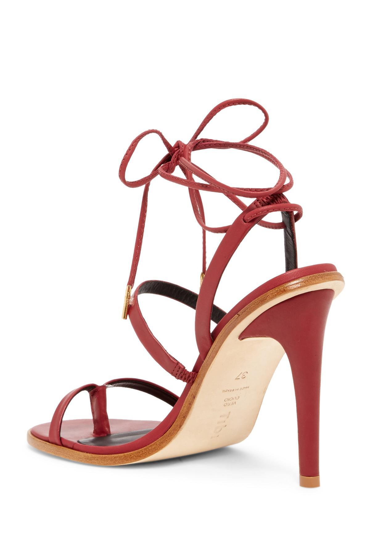 cbe98705e79 Lyst - Tibi Amber Ii Ankle Lace Sandal
