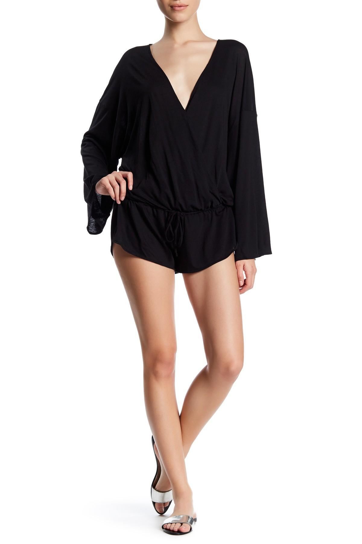 Lyst - Vitamin A Kimono Romper In Black