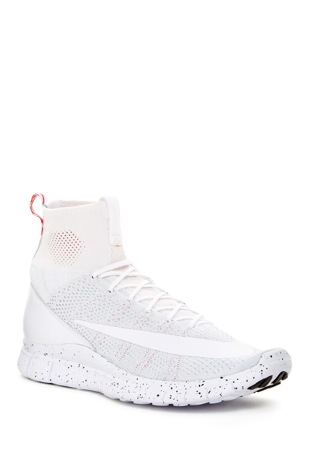 Zapatilla Mercurial Flyknit Nike Free Flyknit Mercurial Lyst En Blanco Para Hombres e890c8