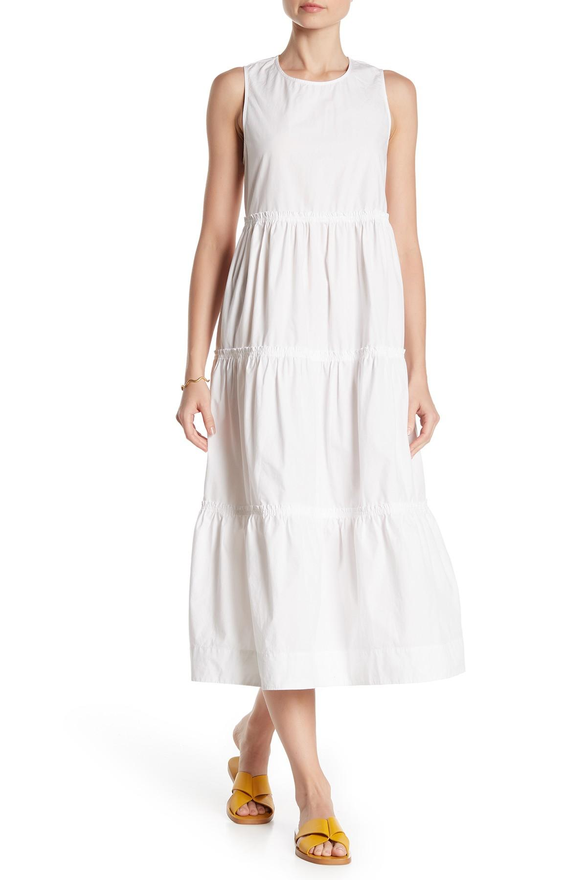 d268e27175d Lyst - Madewell Cattail Tiered Dress in White
