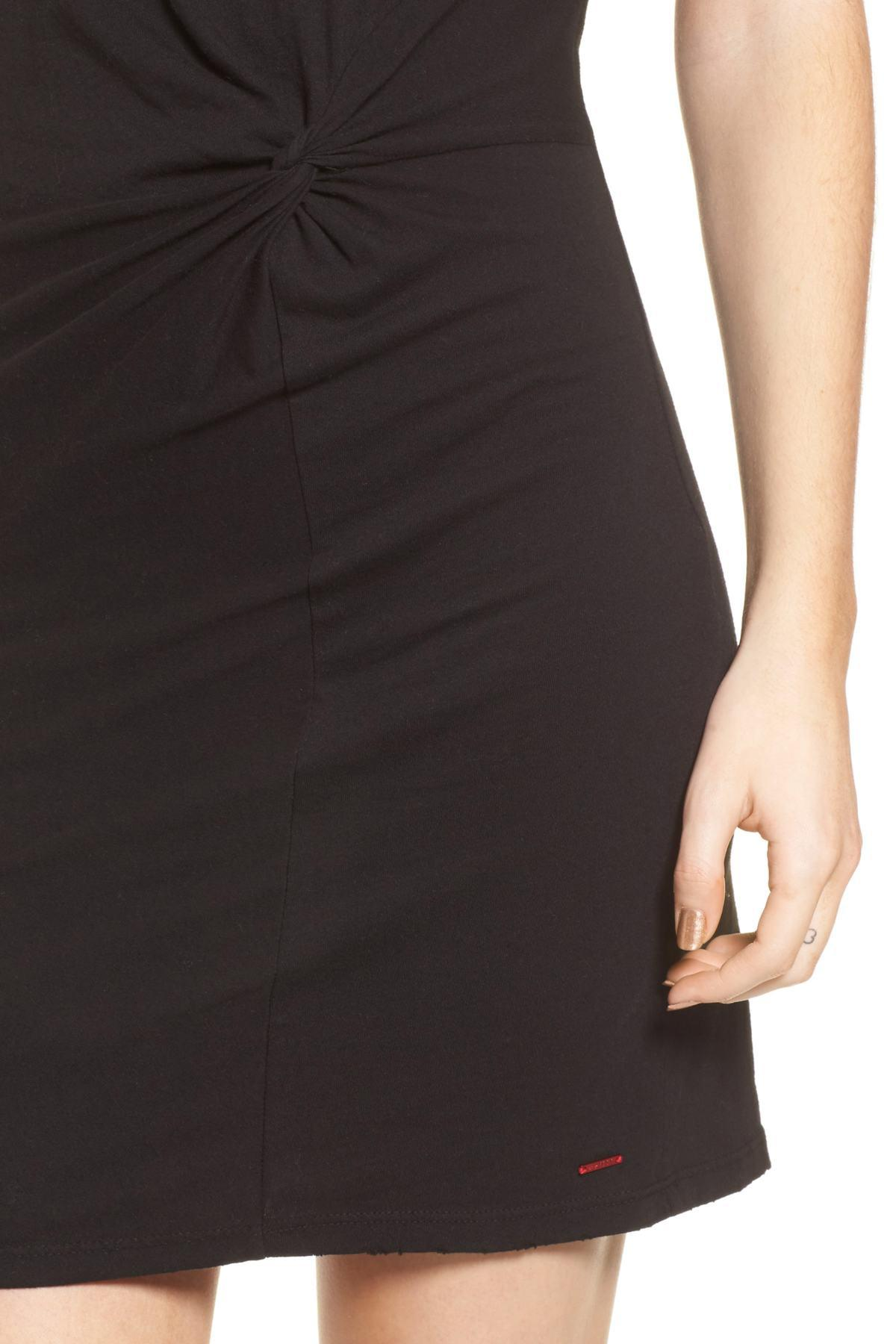 d1389870736 n PHILANTHROPY - Black Jazz Knotted T-shirt Dress - Lyst. View fullscreen