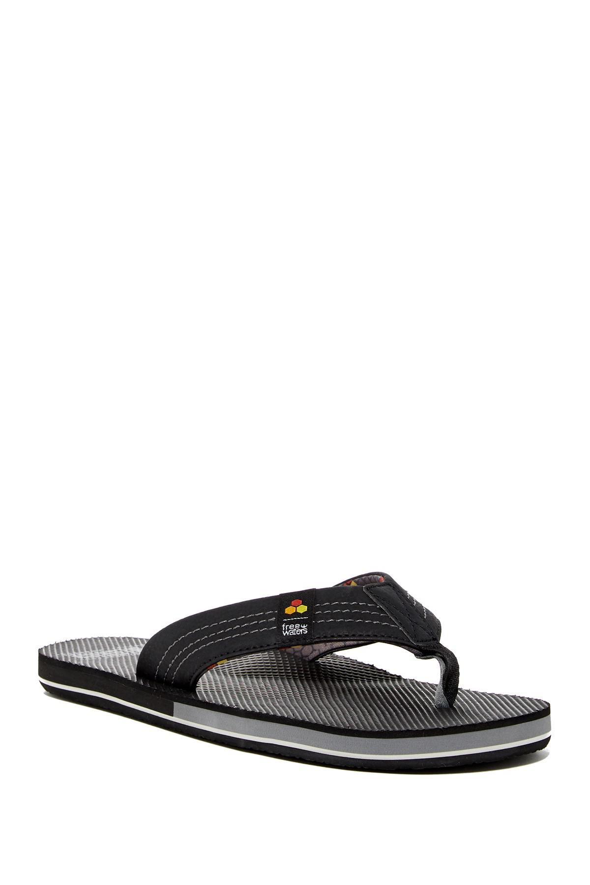 e3596030281 Lyst - Freewaters Dude Flip Flop in Black for Men