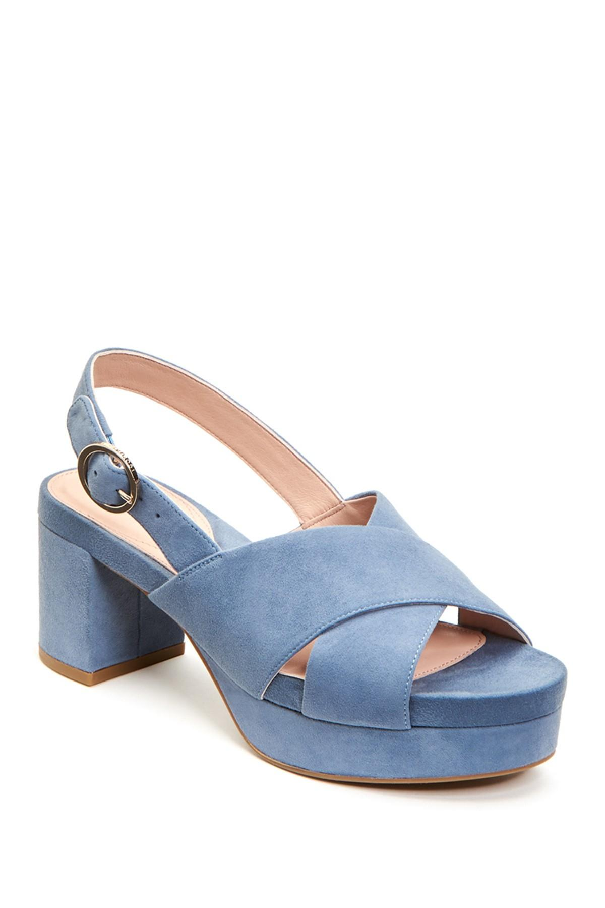 c80e224d7a7 Lyst - Taryn Rose Wanda Block Heel Sandal in Blue - Save 51%