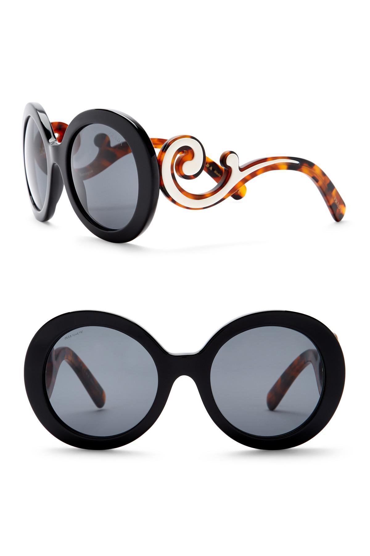 a45989571df0a Prada Round Catwalk Sunglasses Women s 55mm Minimal Lyst Baroque BdqfB