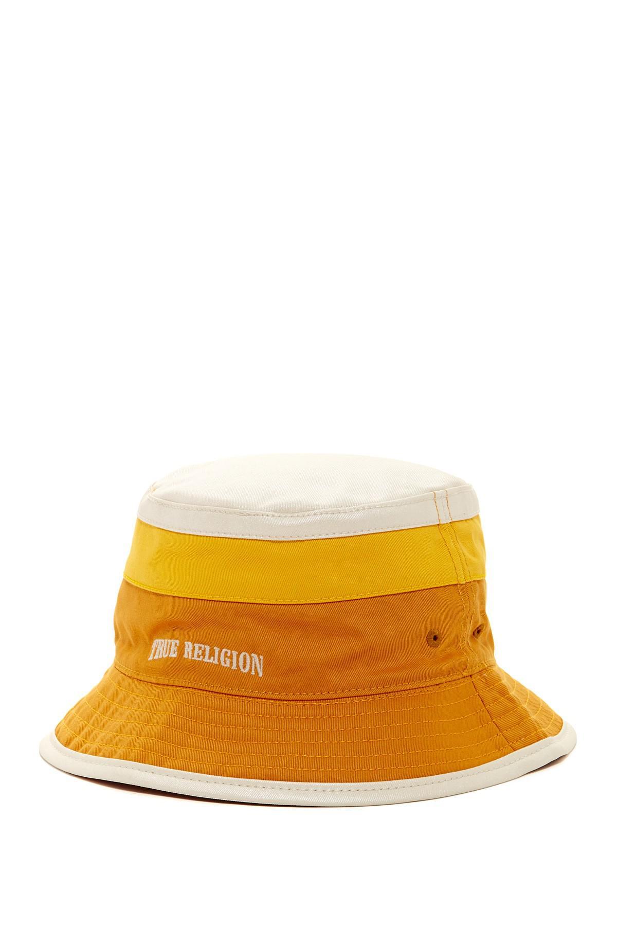 Lyst - True Religion Reversible Colorblock Bucket Hat in Yellow for Men 70040239b3f1