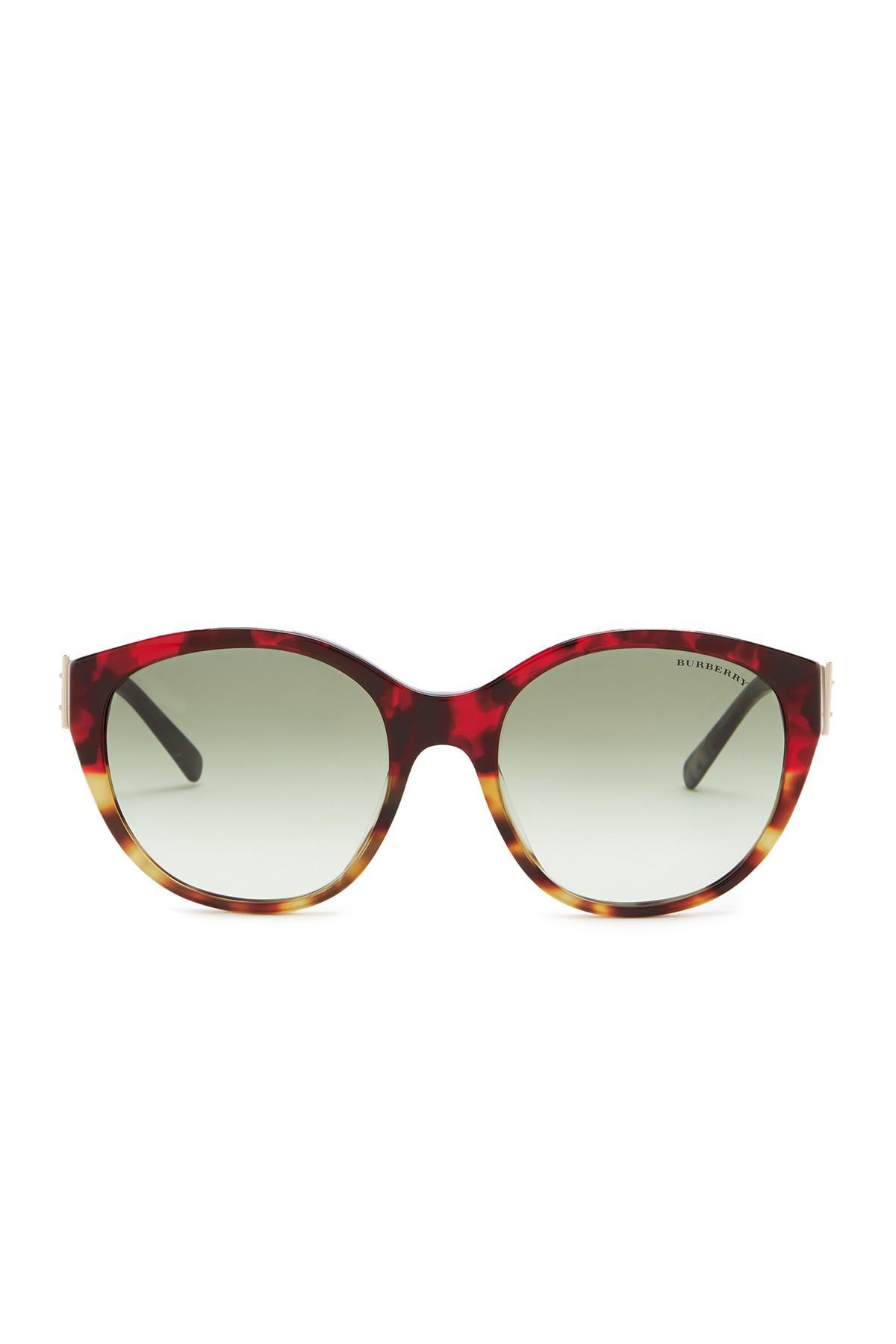 07e11d14d2fe Burberry - Multicolor 55mm Round Sunglasses - Lyst. View fullscreen