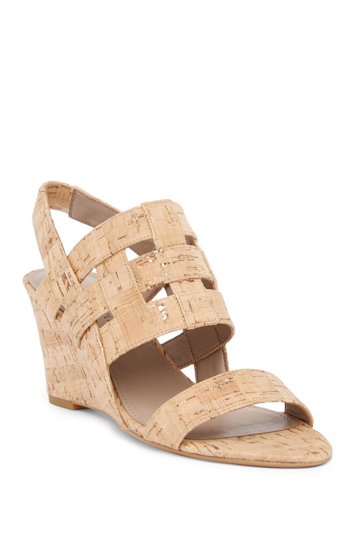Donald Pliner Joela Metallic Cork Wedge Sandal B579fjmaY