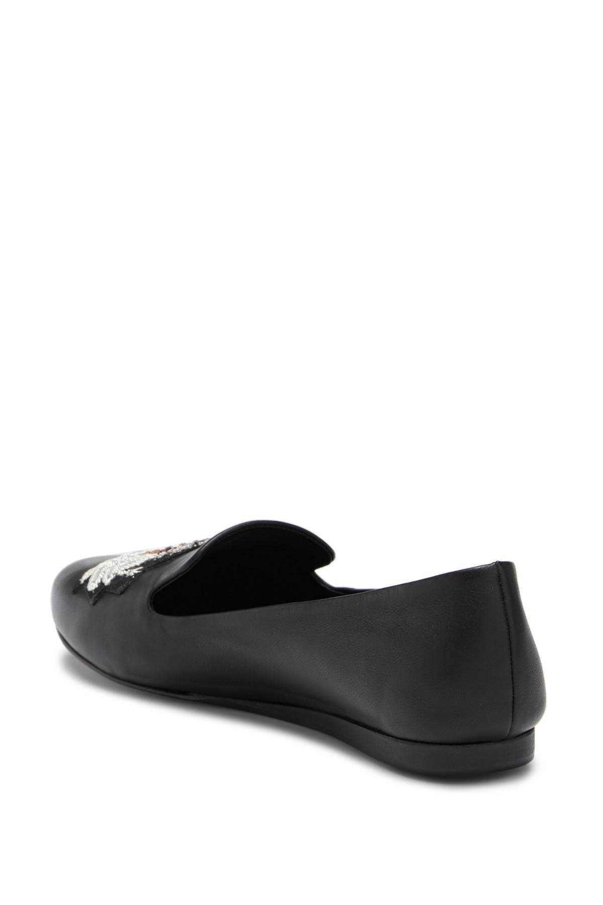 bf9c330fded Lyst - Veronica Beard Griffin Nappa Leather Slip-on Loafer With ...