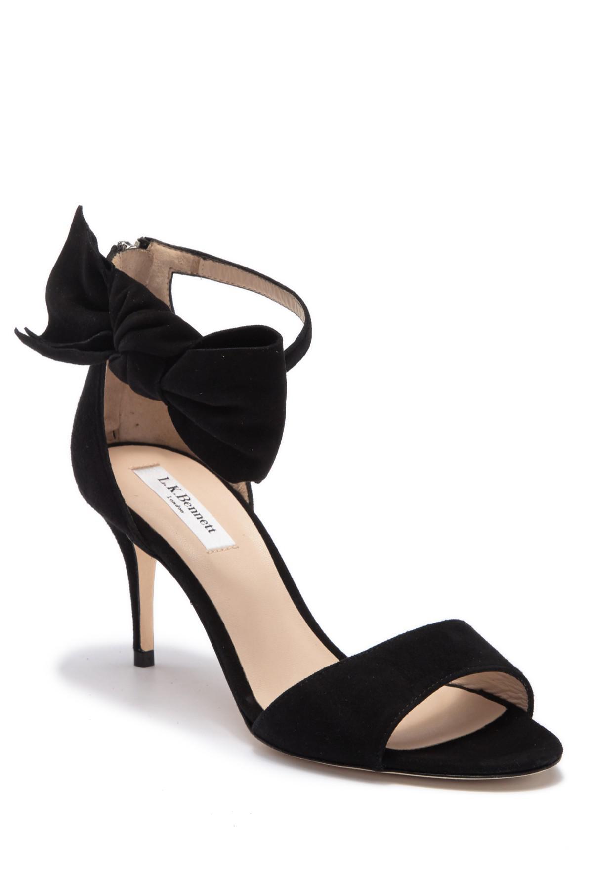 4874842a8b9506 Lyst - L.K.Bennett Agata Ankle Tie Sandal in Black